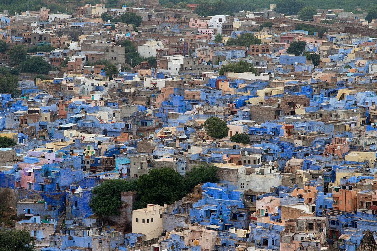 the blue city...