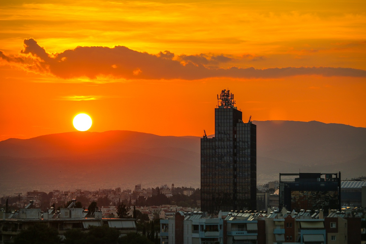 Sunset in Athens...