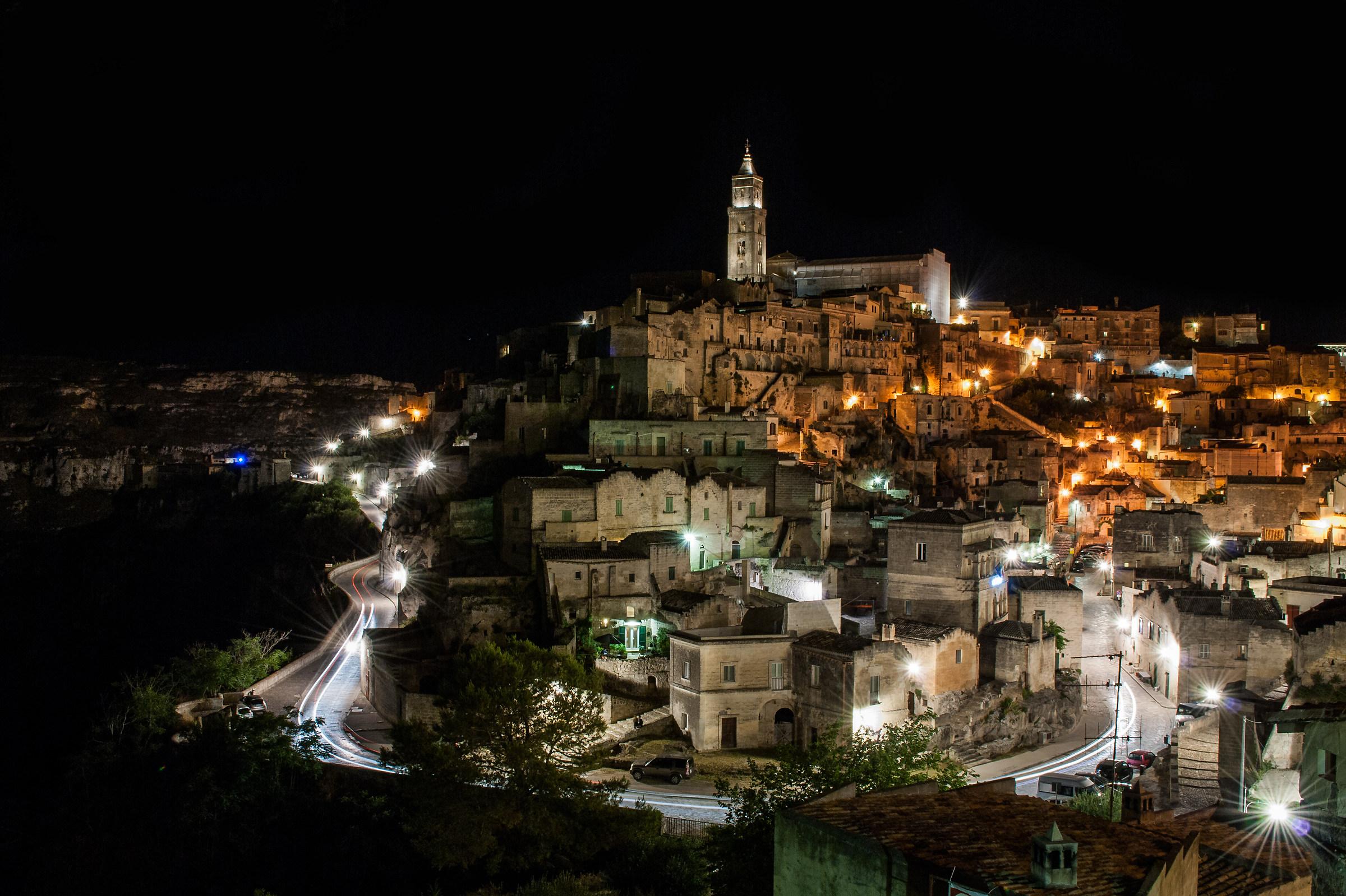 Matera by night...
