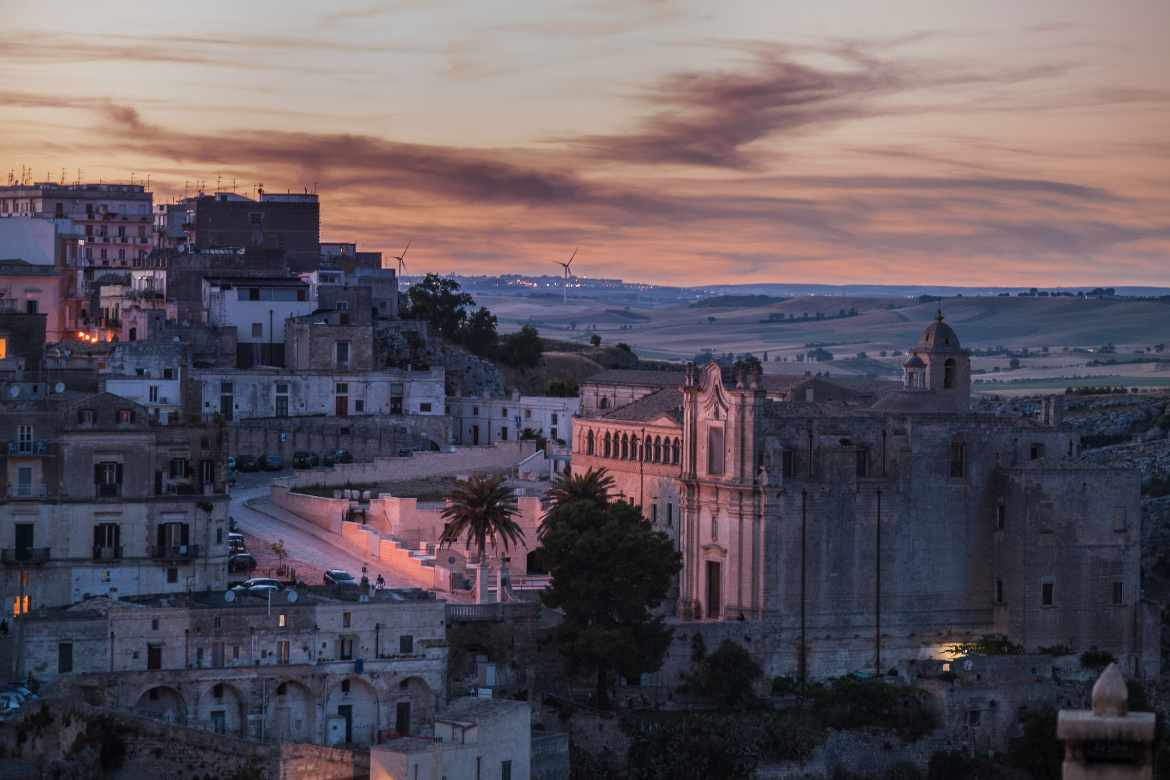 Sunset in Matera...