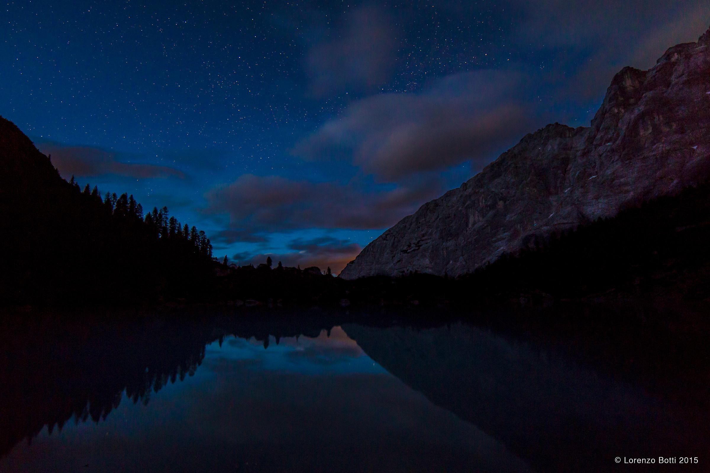 notte al lago Sorapis...