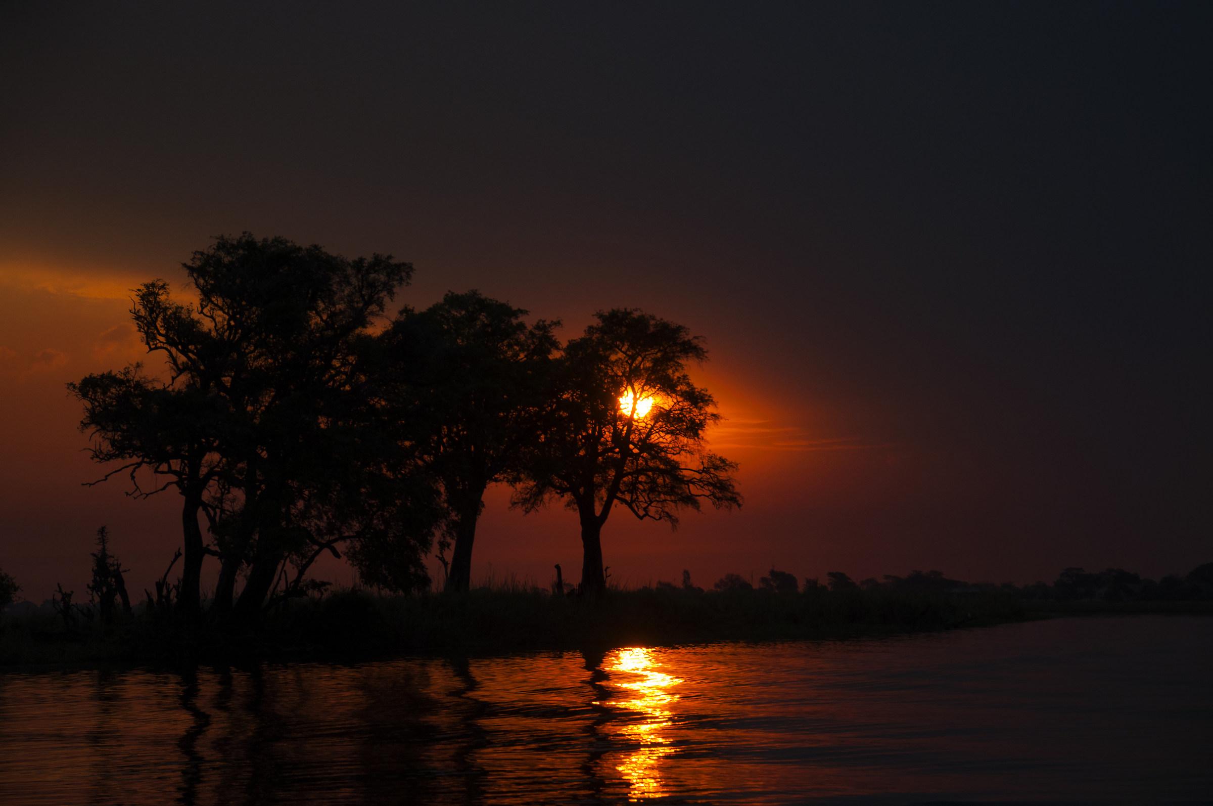 Sunset in Chobe River...