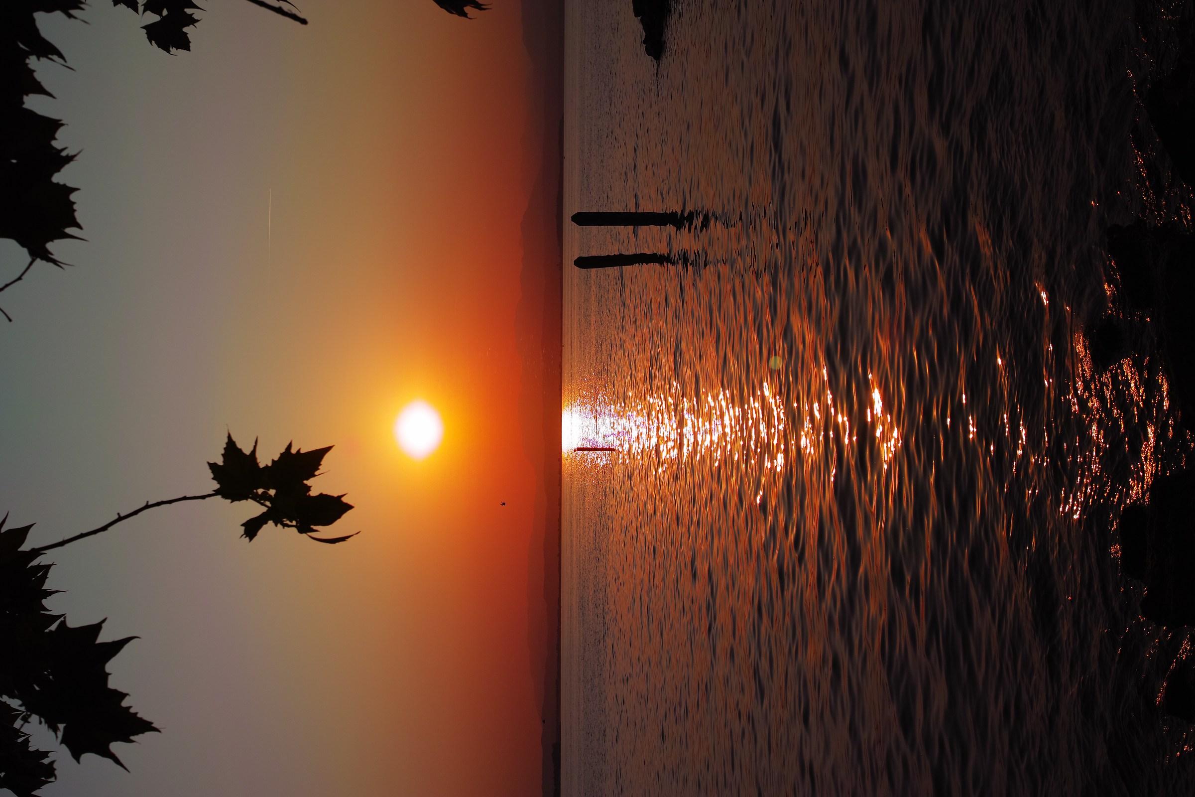 Serie tramonto peschiera lago di garda...
