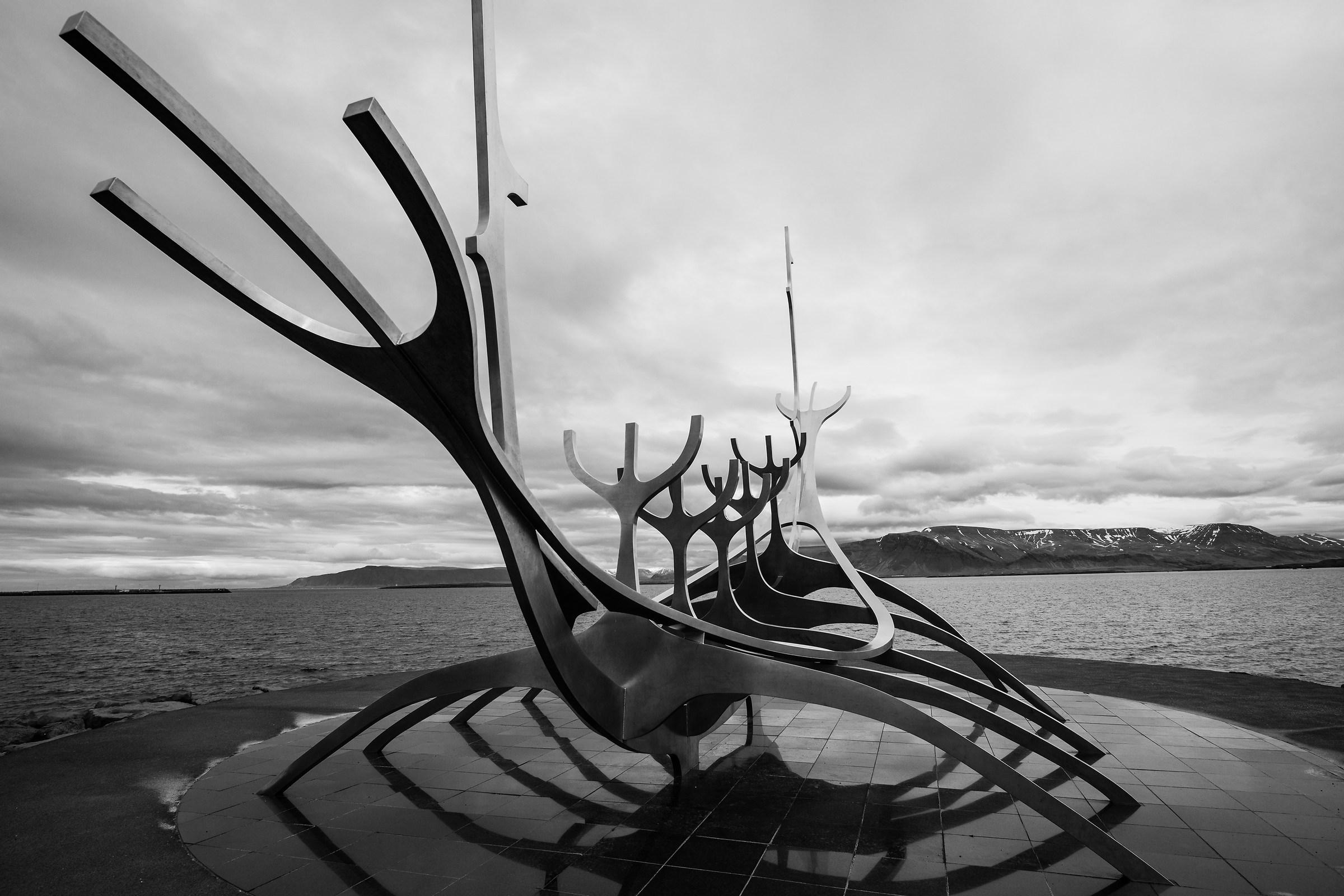 Viking ship by Jon Gunnar Arnason...