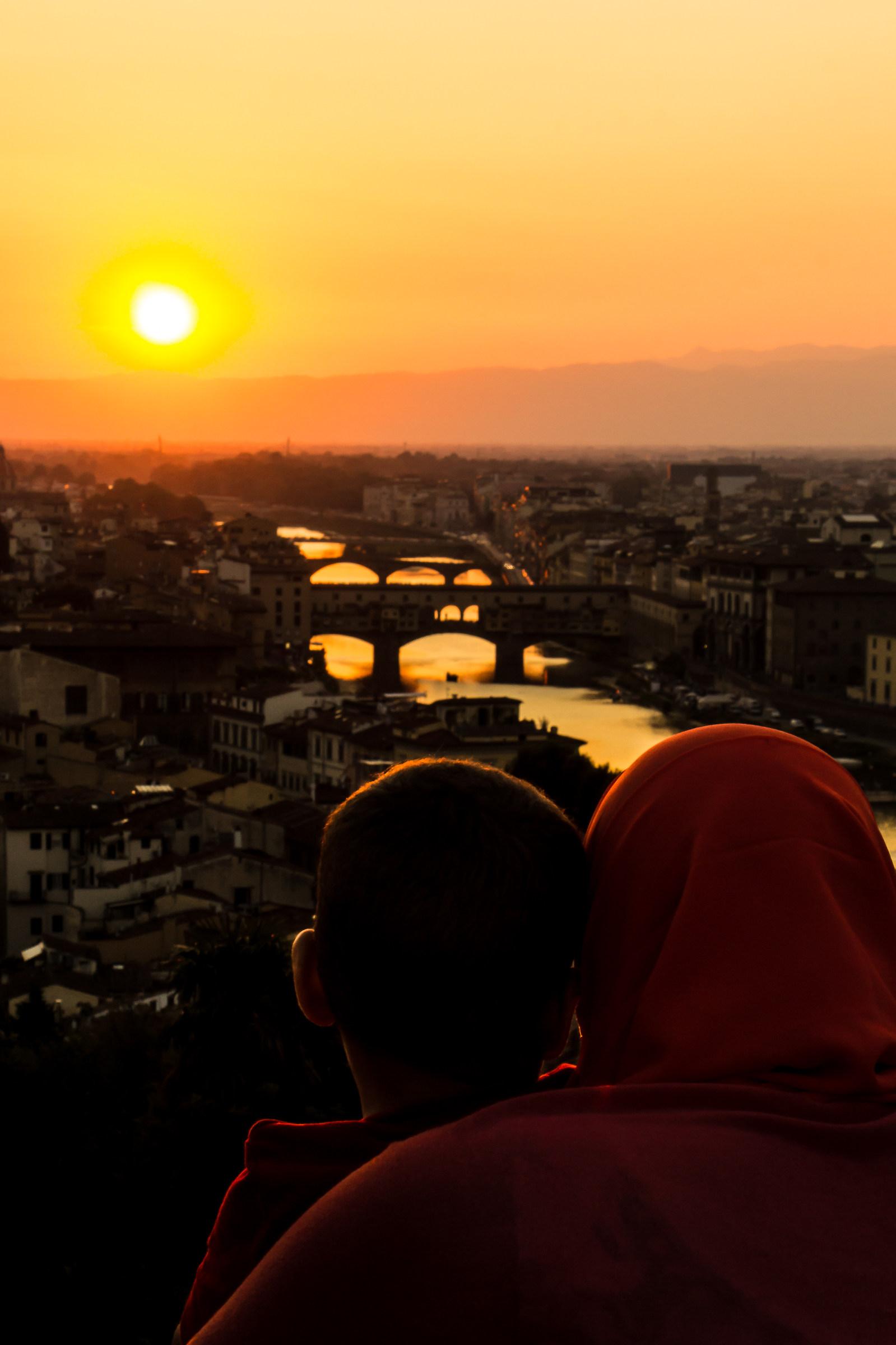 Their sunset...