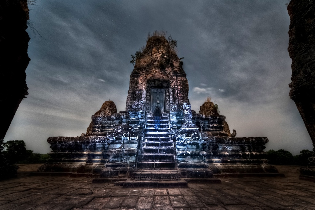 Pre Rup temple by night, Angkor, Cambodia...