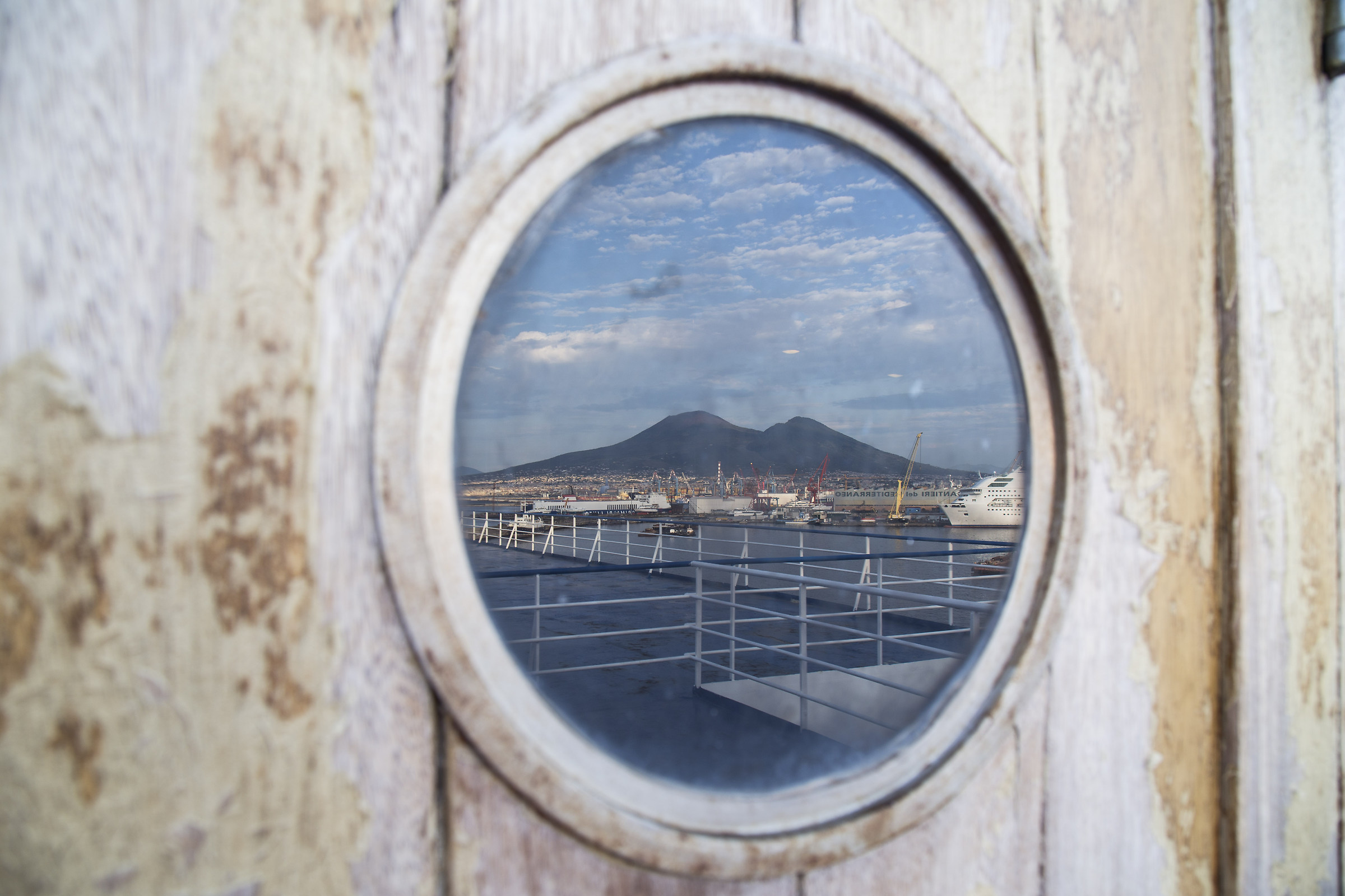 Naples from a porthole...