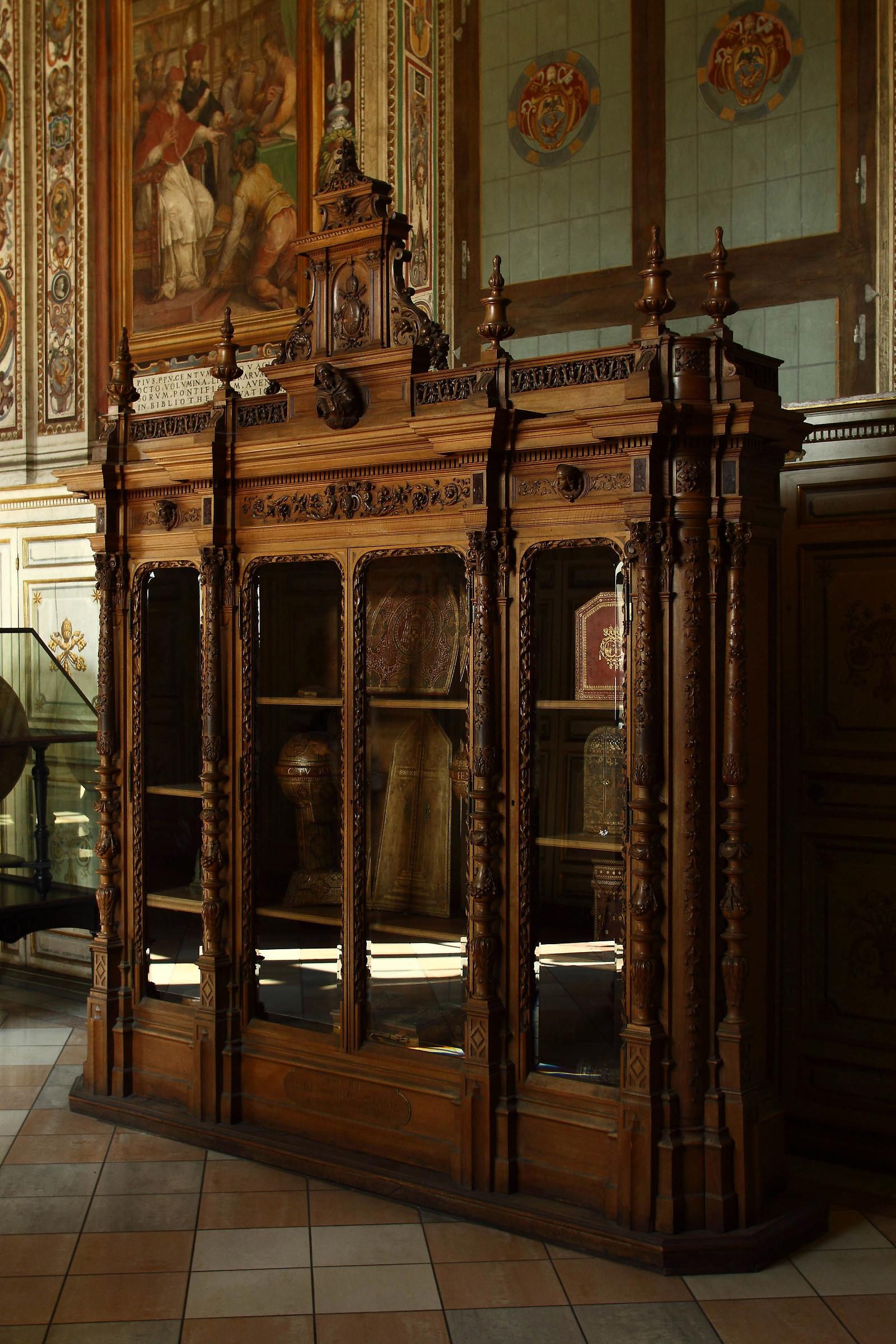 inside the Vatican Museums...