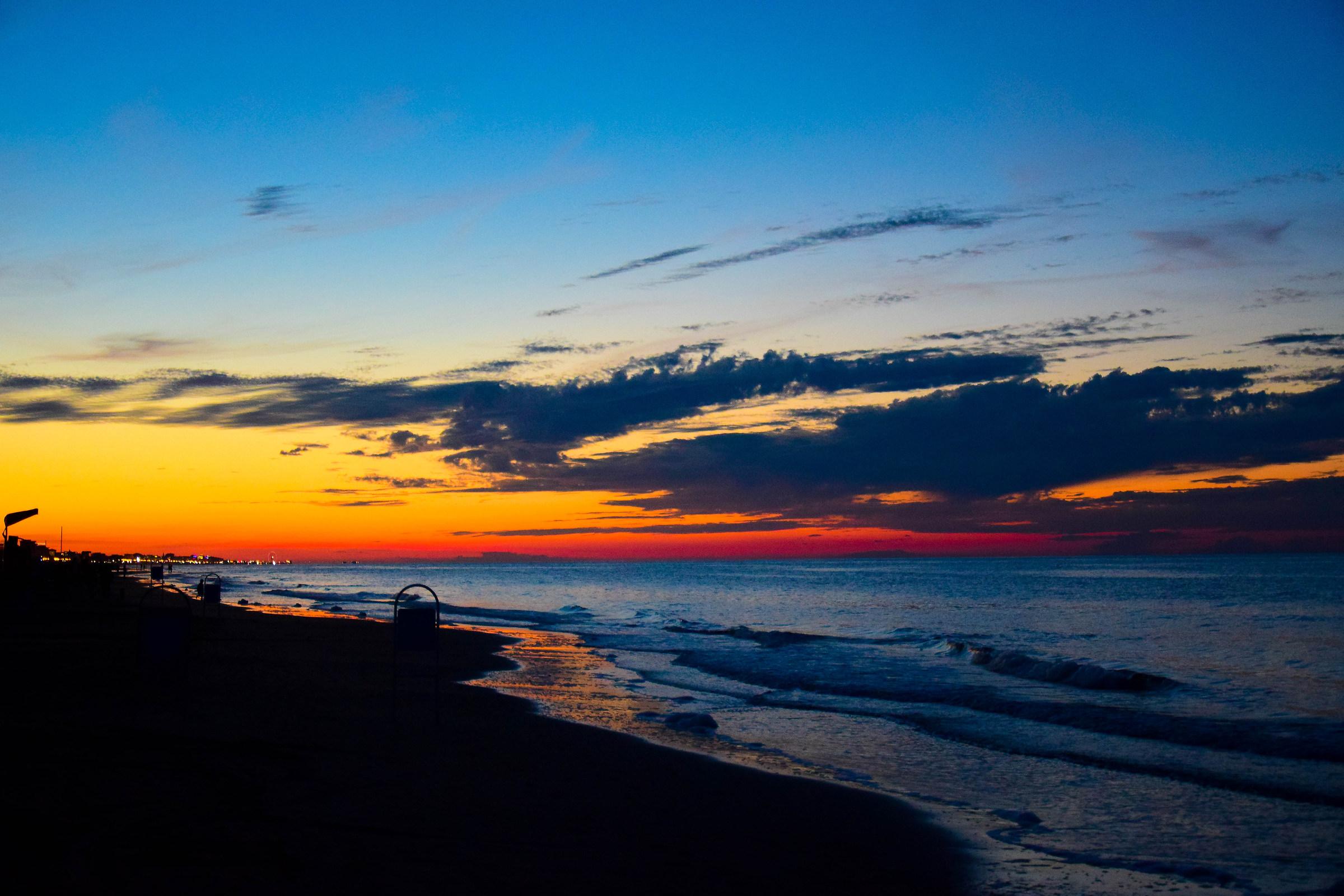 Sunset in Riccione...