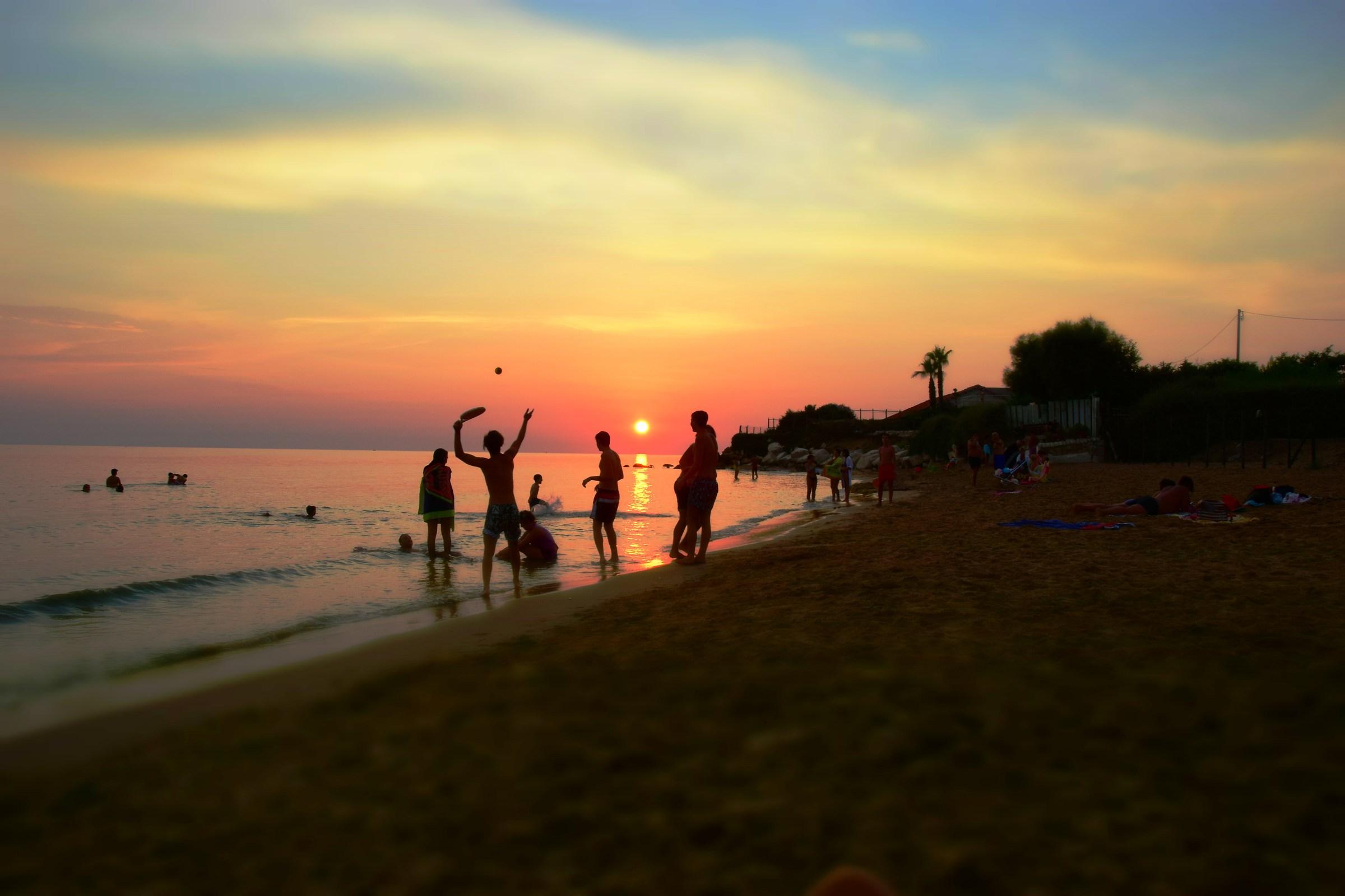 crowded beach?...
