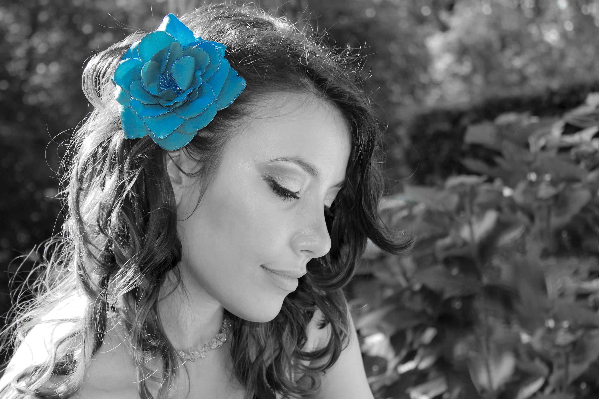 A blue rose...