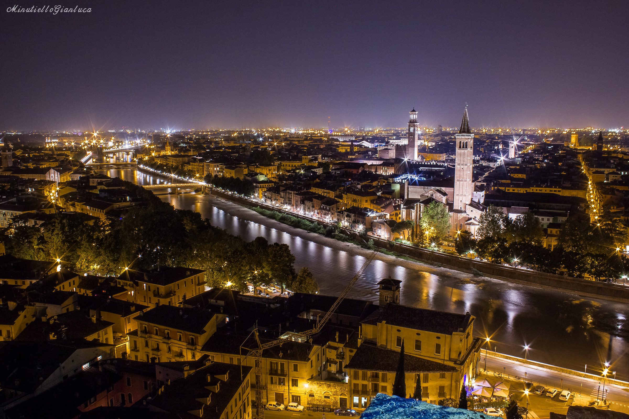 Verona by night...