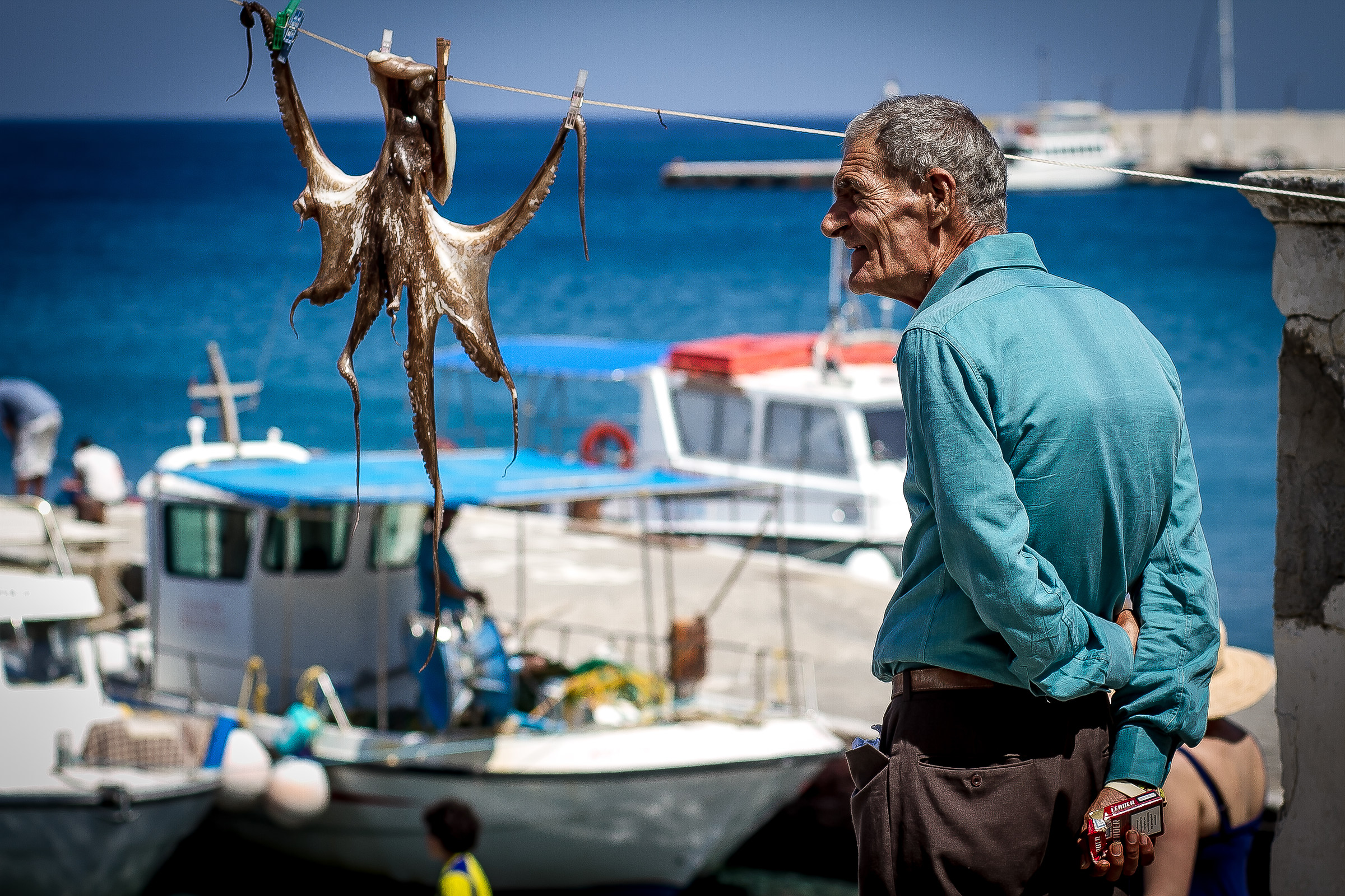Octopus and fisherman...