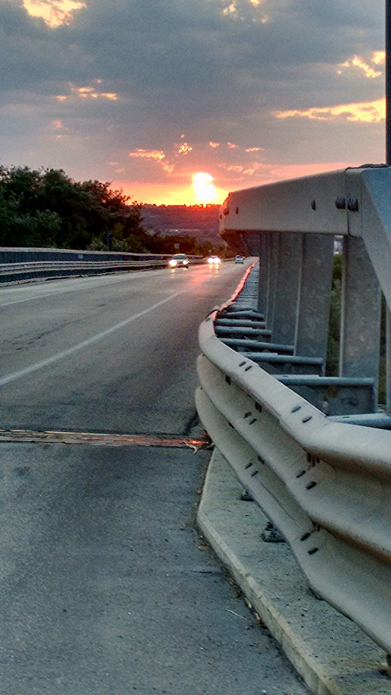 La via del tramonto...