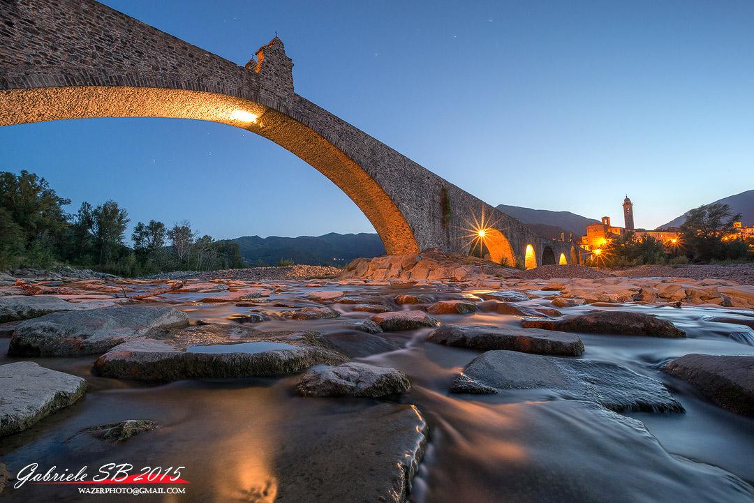 Sunset under the bridge...