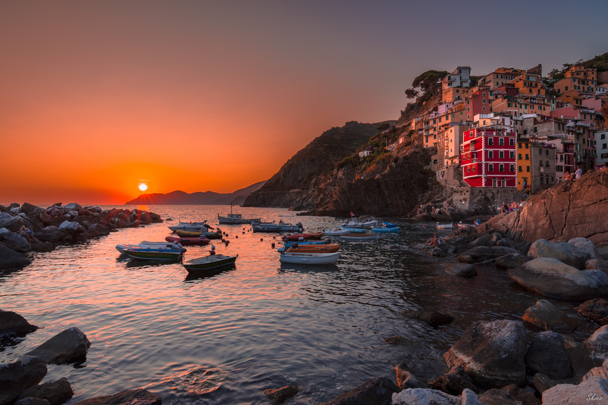 Riomaggiore and its sunsets....