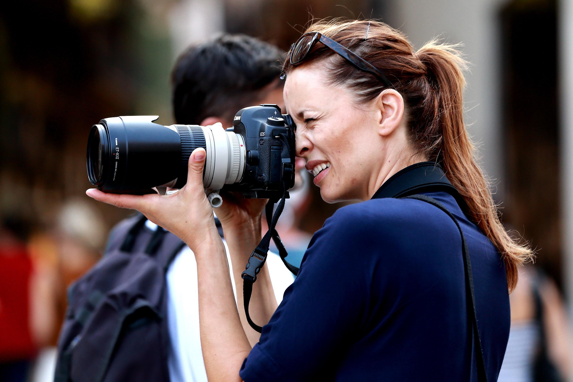 Una fotografa...