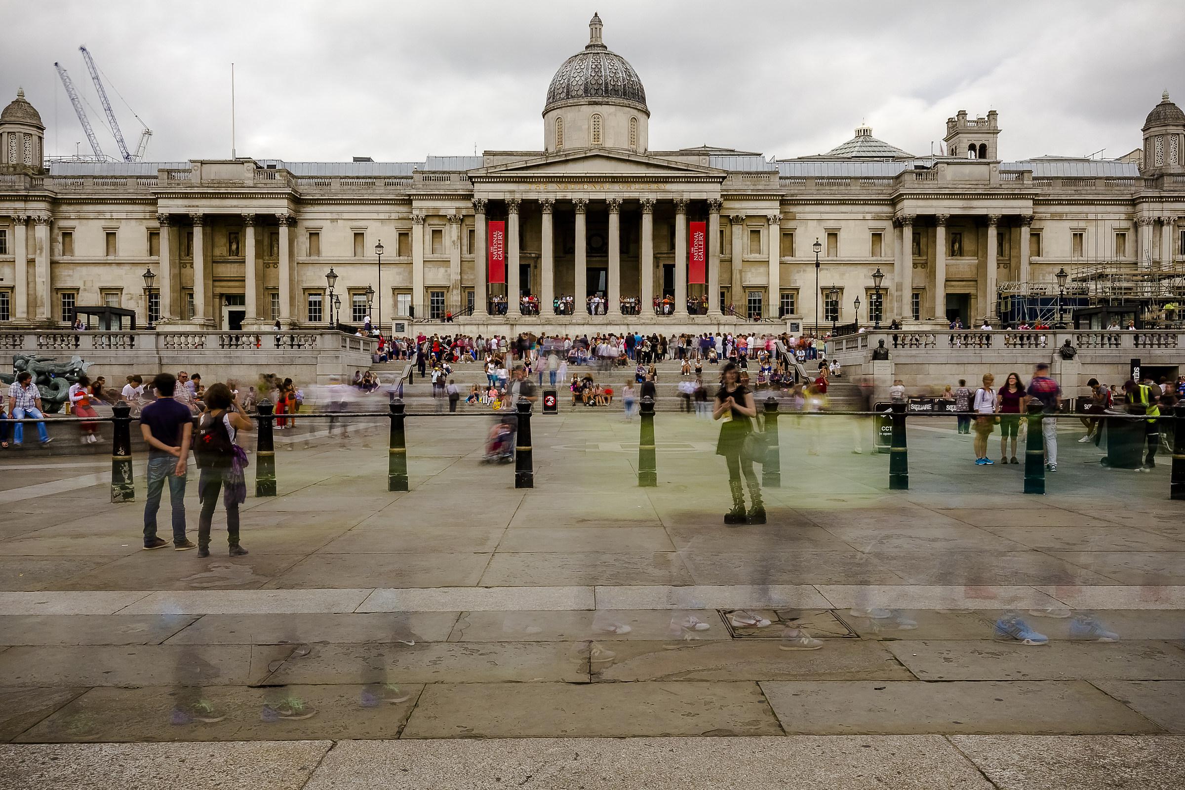 Trafalgar Square and National Gallery...