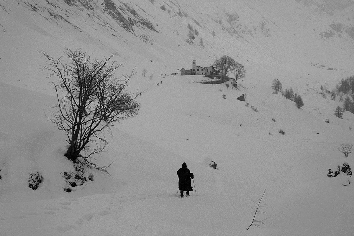 Pilgrimage in the snow...