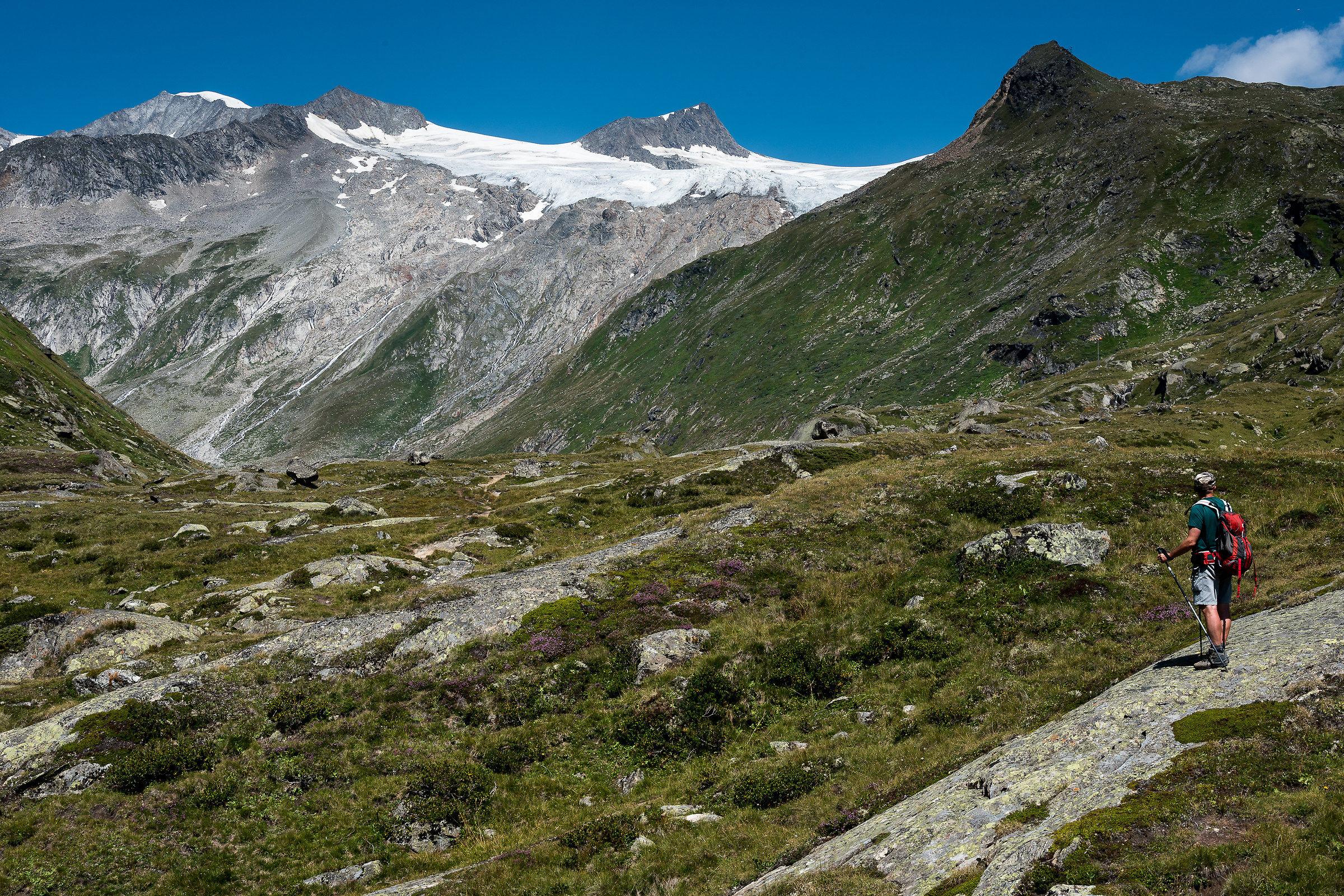 Glacier Grossvenediger from Johannis Hutte...