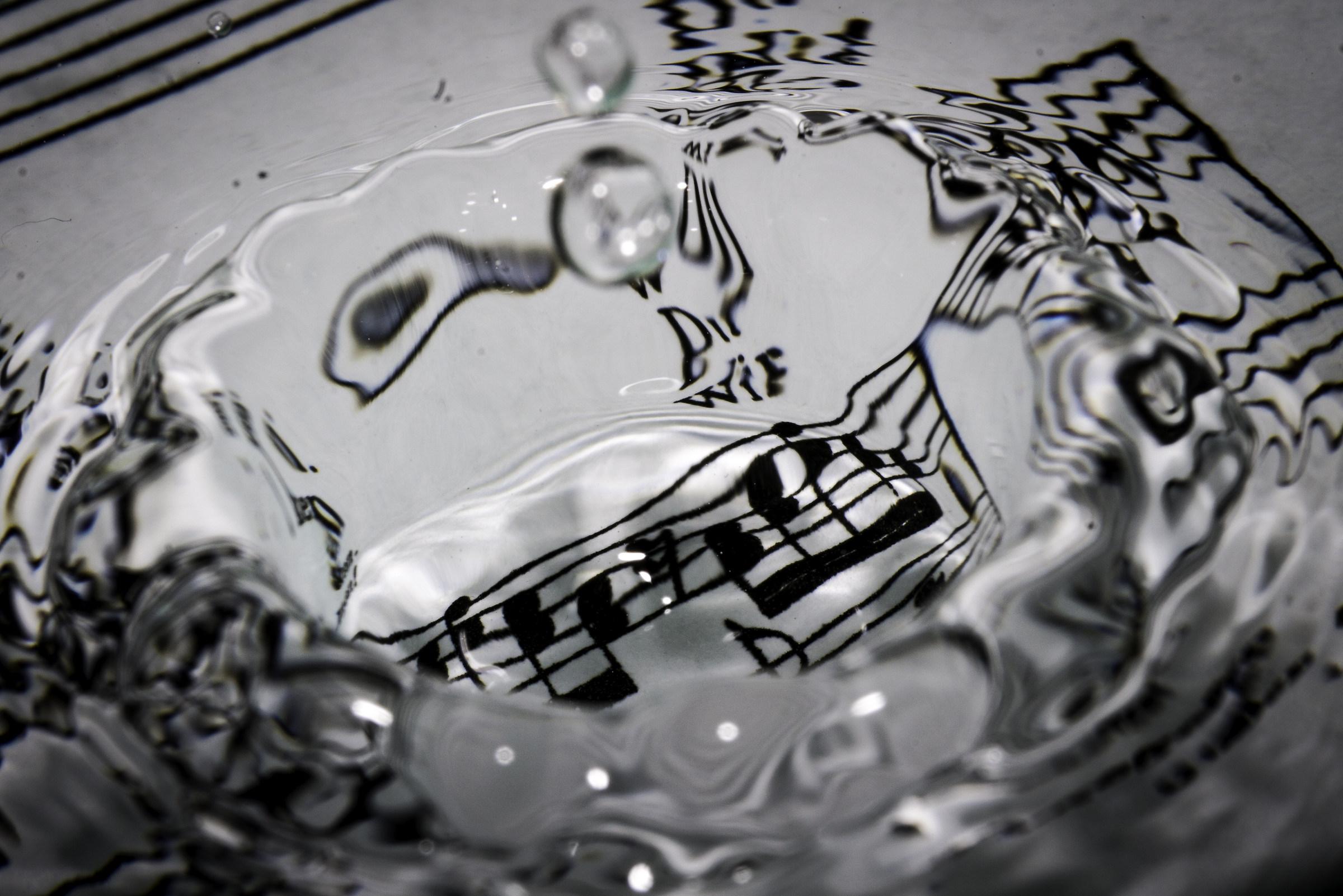 Sound waves...