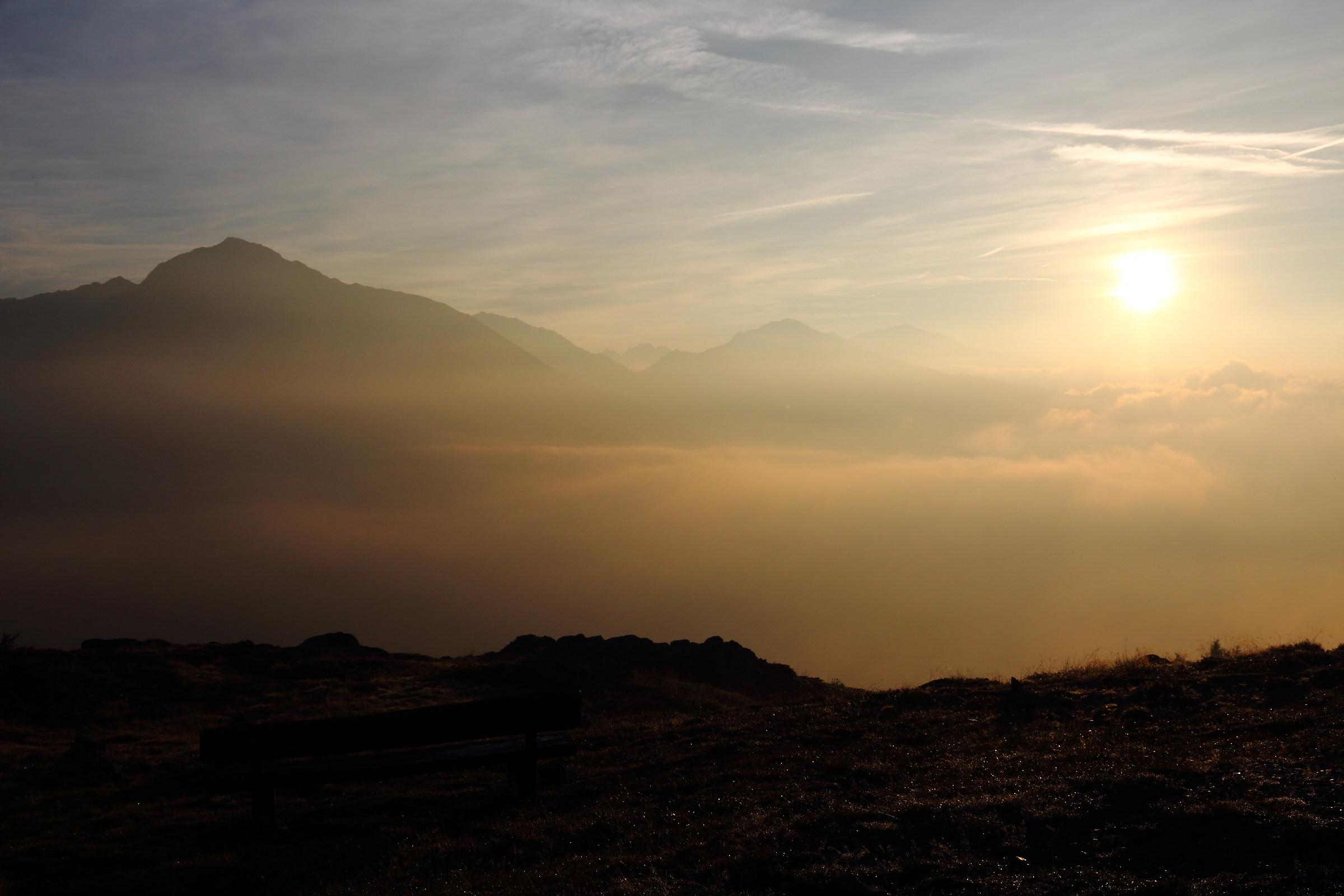 Dawn on Steiner Mandl - Vals - South Tyrol...
