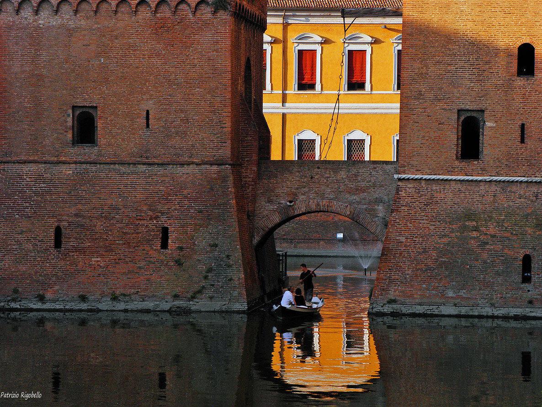 Boat in the heart of Ferrara...