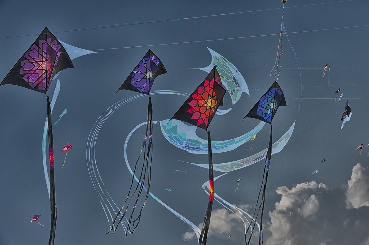 Kites. Cervia international event....