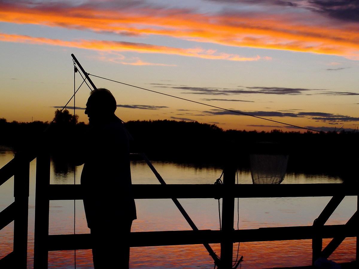 Fisherman at sunset...