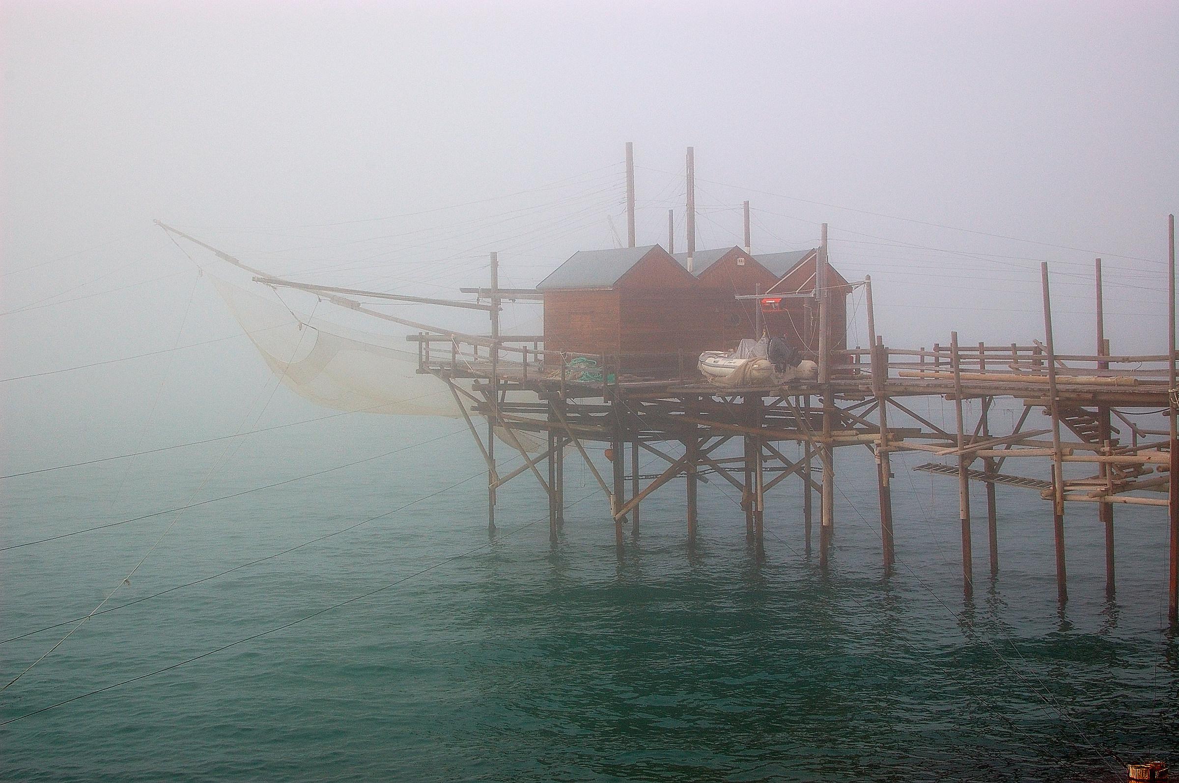 Termoli - Trabucco nella nebbia...
