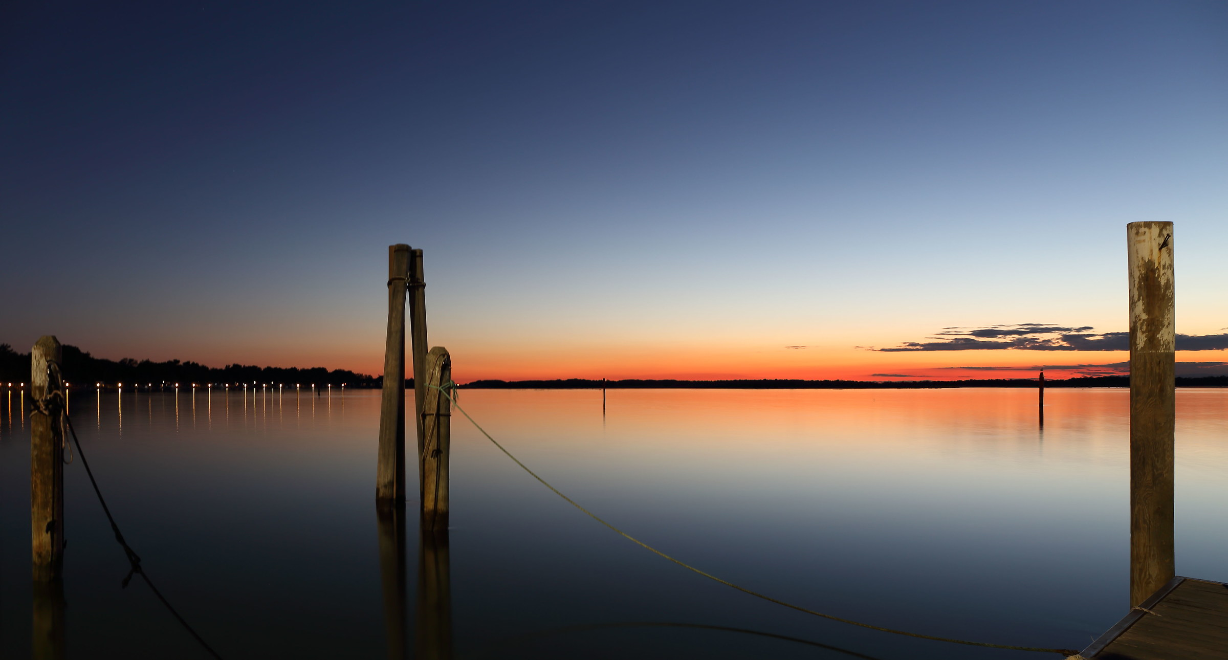 Sunset on the lagoon Bibione...
