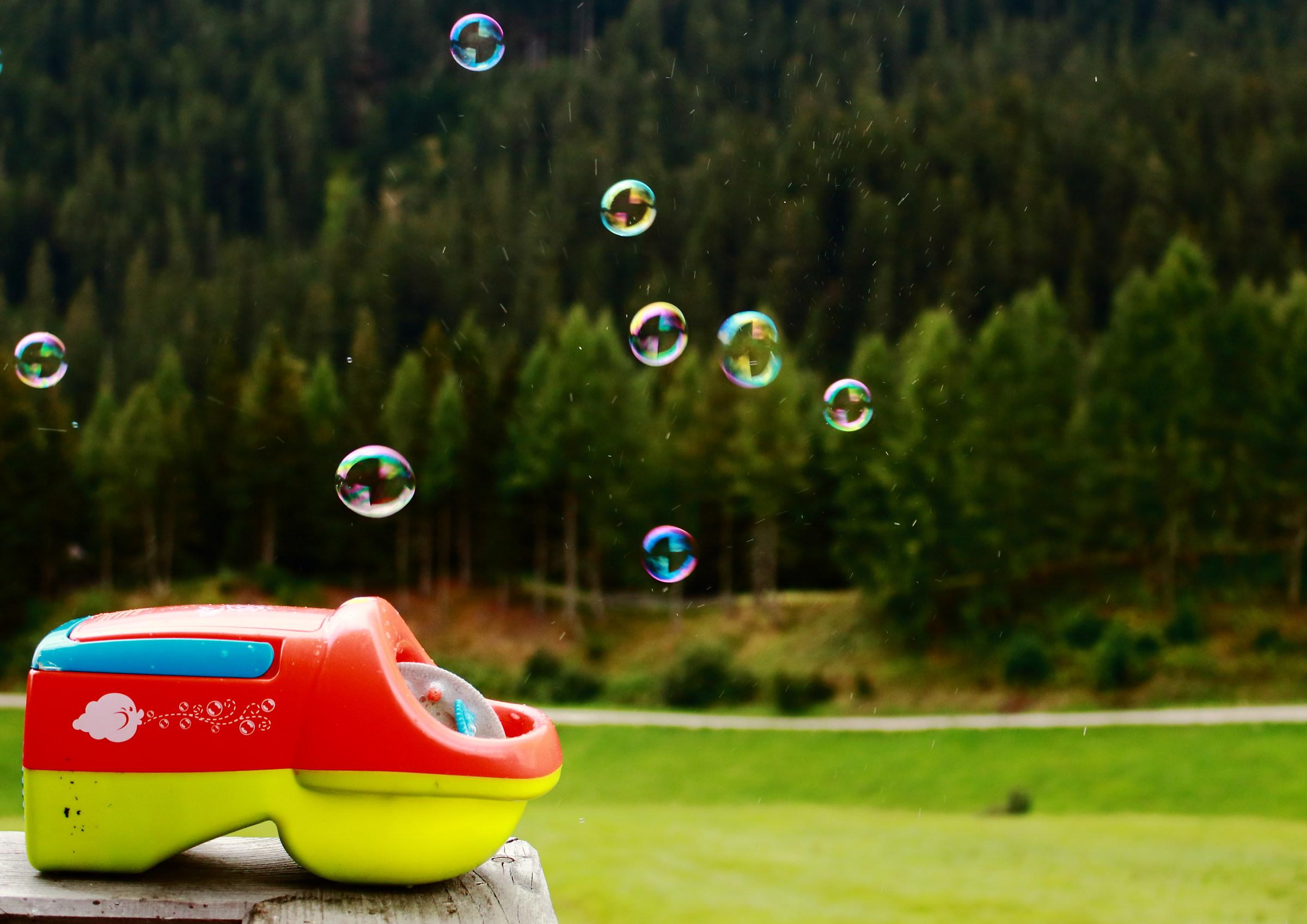 bolle nell'aria di montagna...