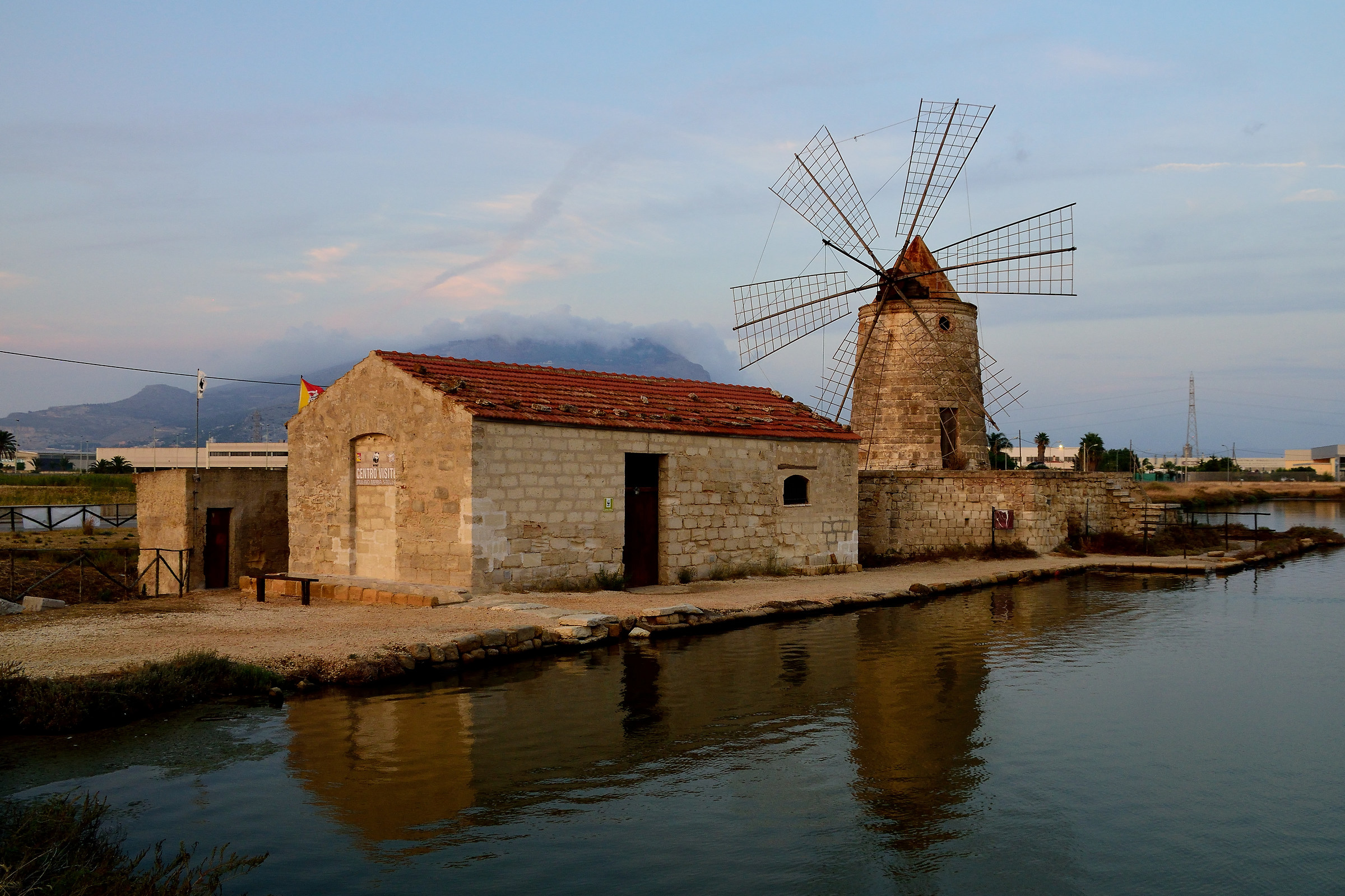 The mill of the saline of Trapani...