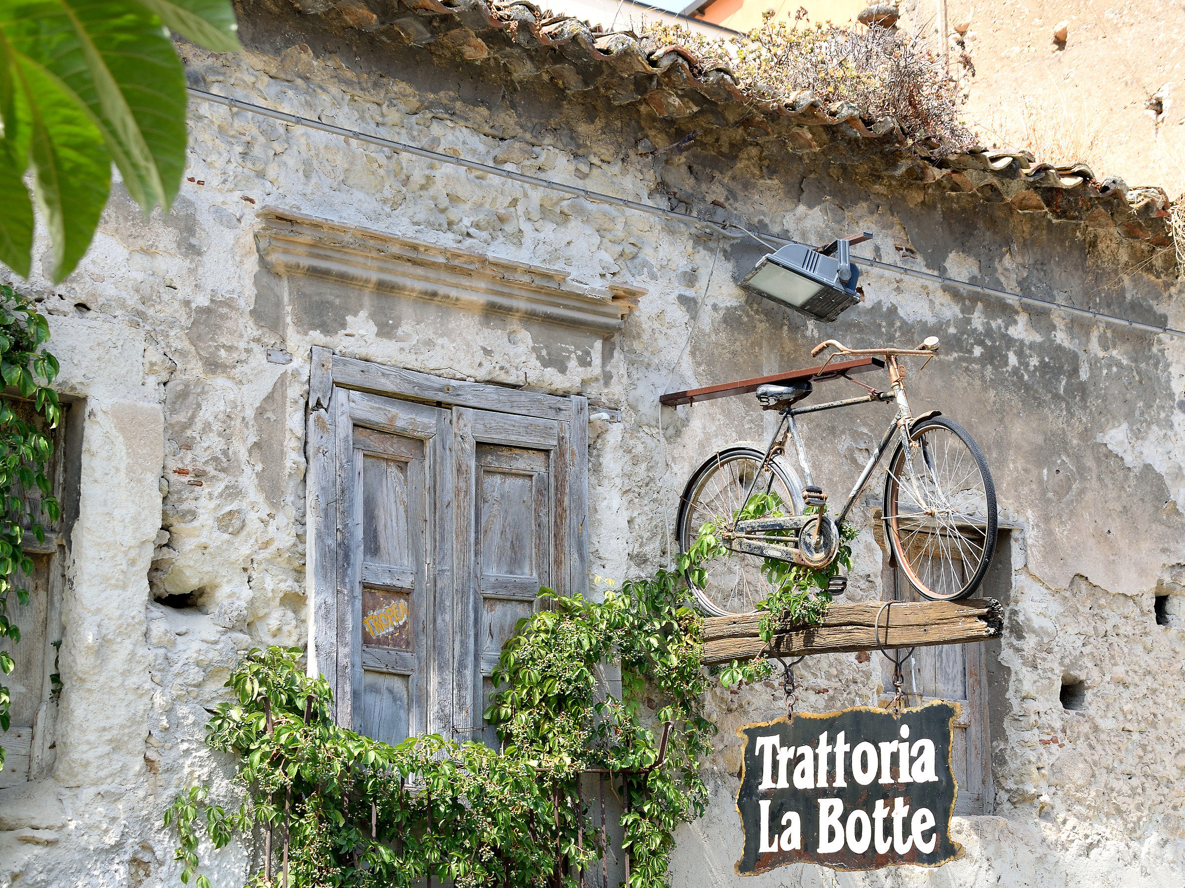 I do not understand the bike as taught for a trattoria...