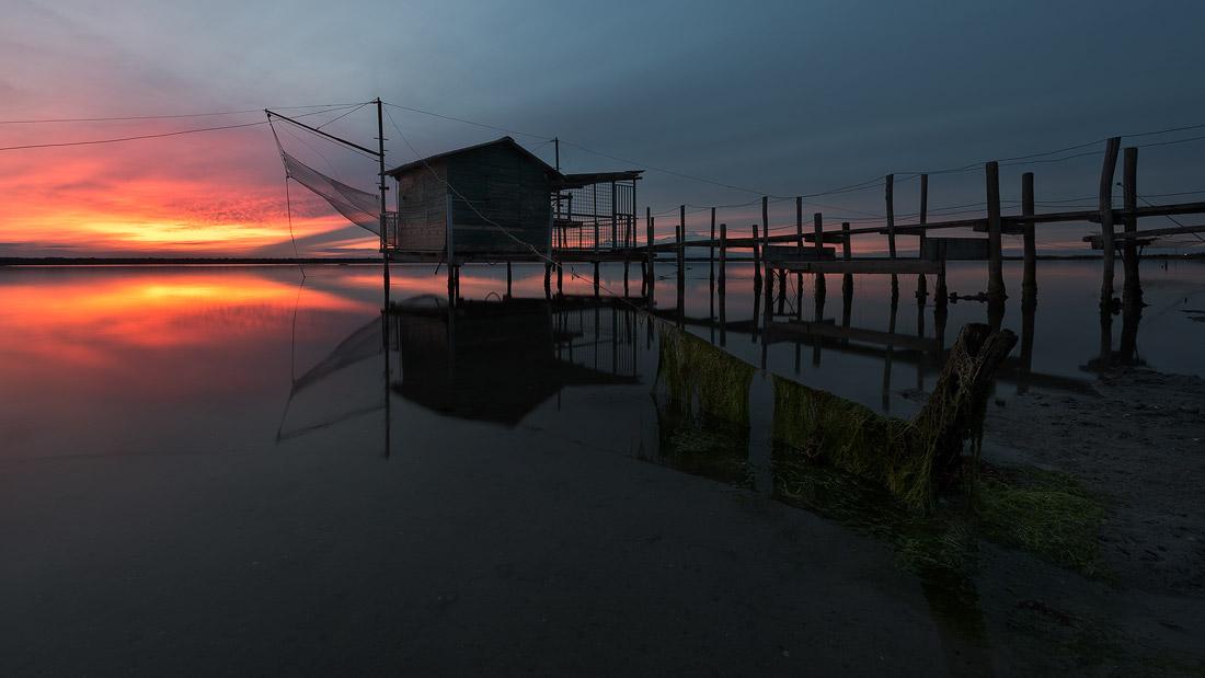 Sunset in the lagoon...