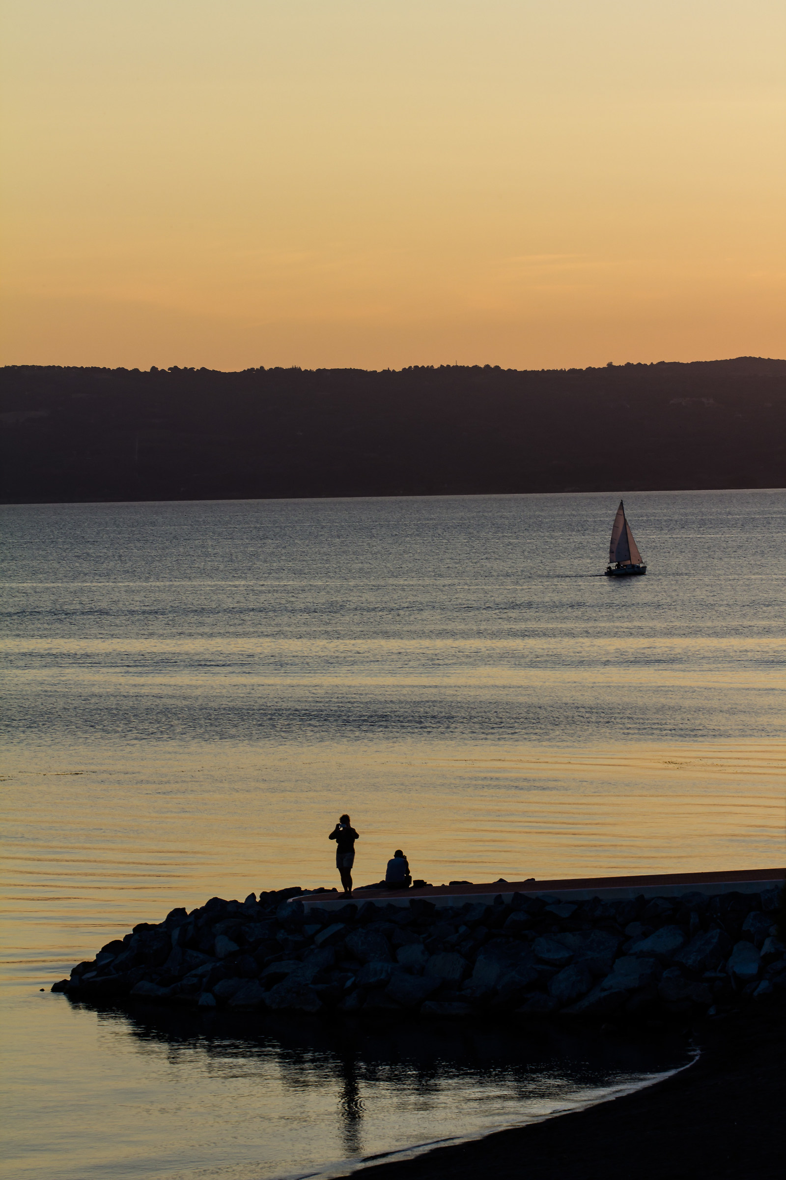 Sunset on Lake Bolsena...