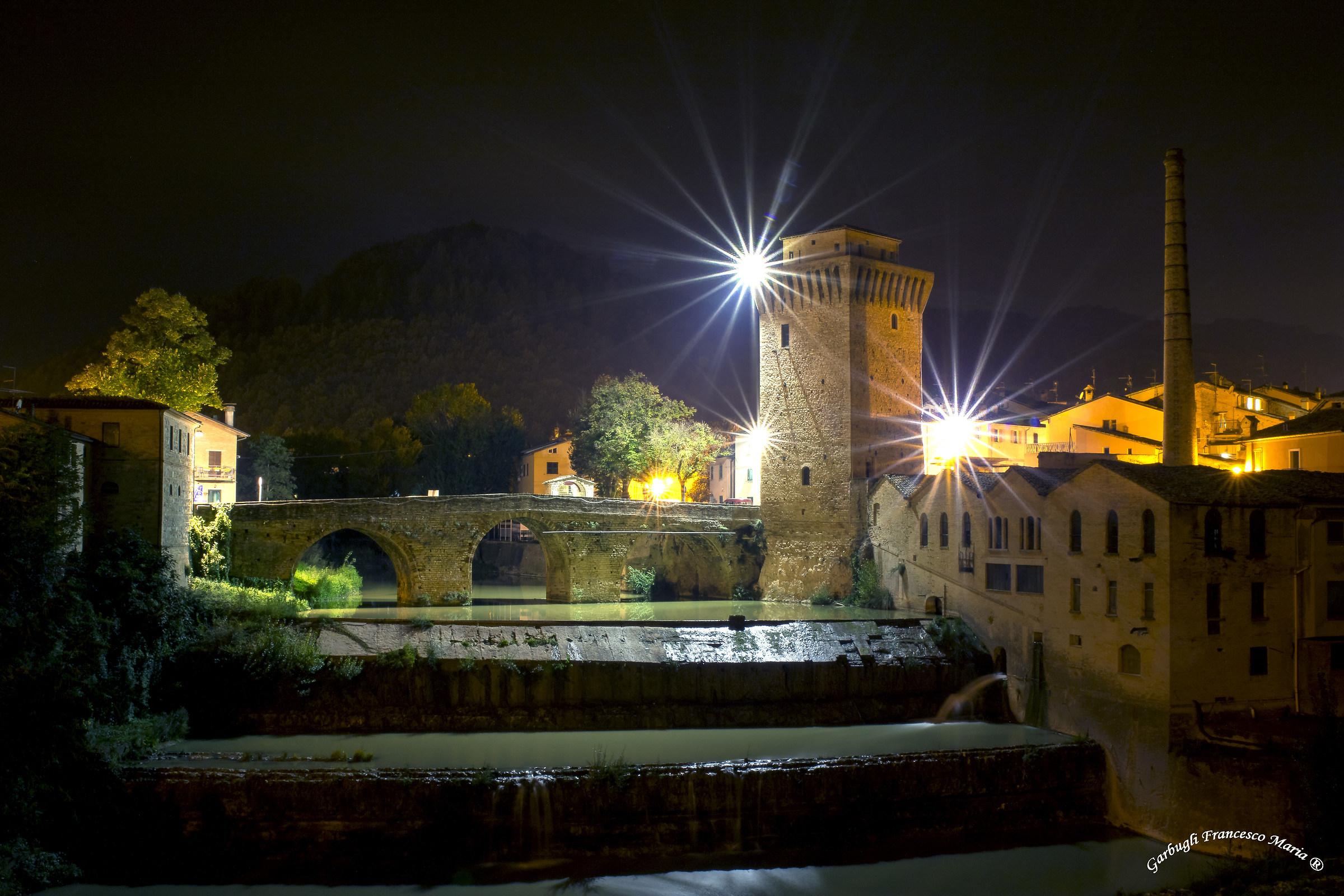 Night falls on Fermignano...