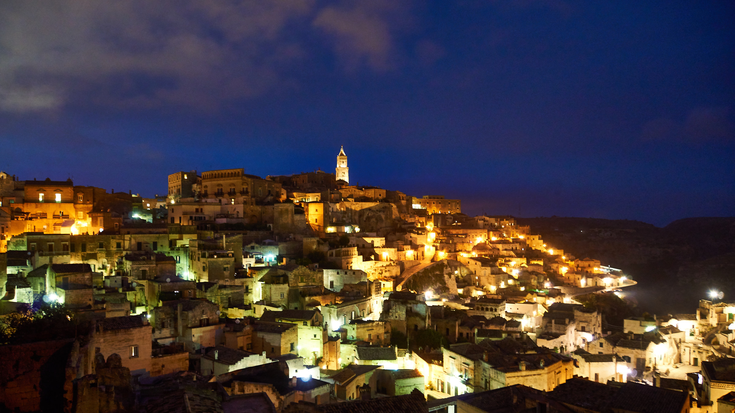 The blue hour in Matera 1...