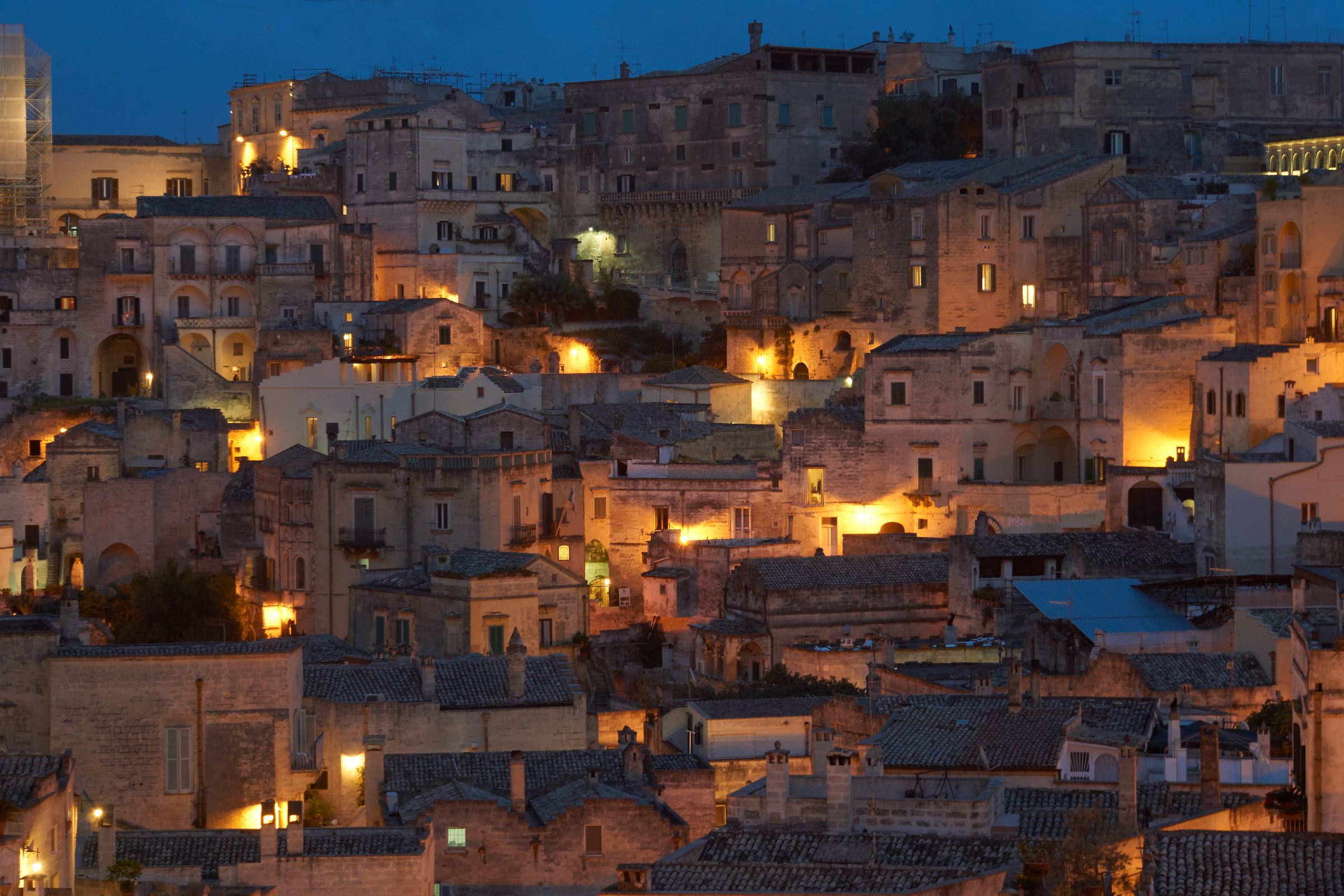 the blue hour in Matera 2...