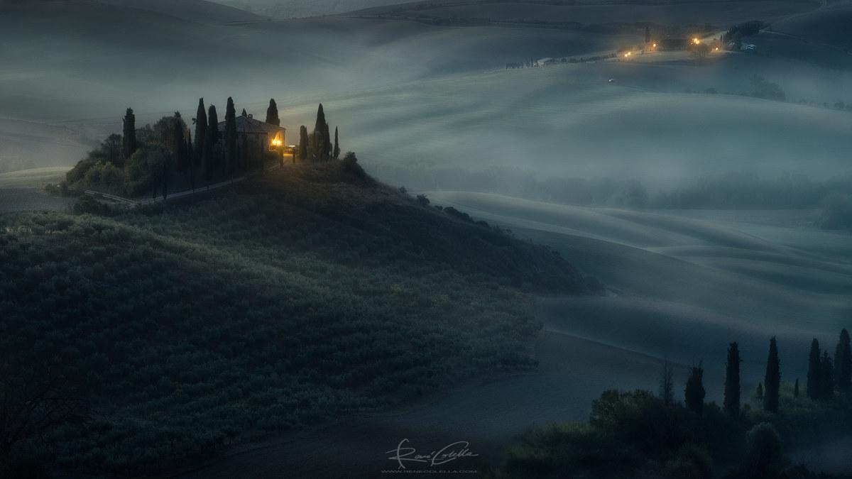 Misty hills...