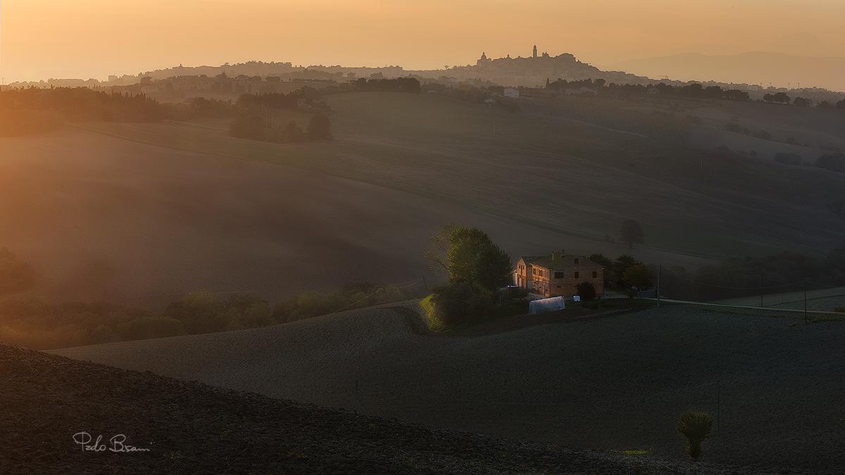 Sunset on Macerata Country...