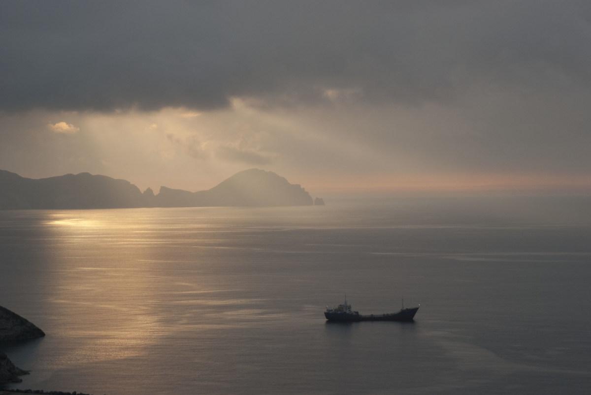 sunset on Palmarola...