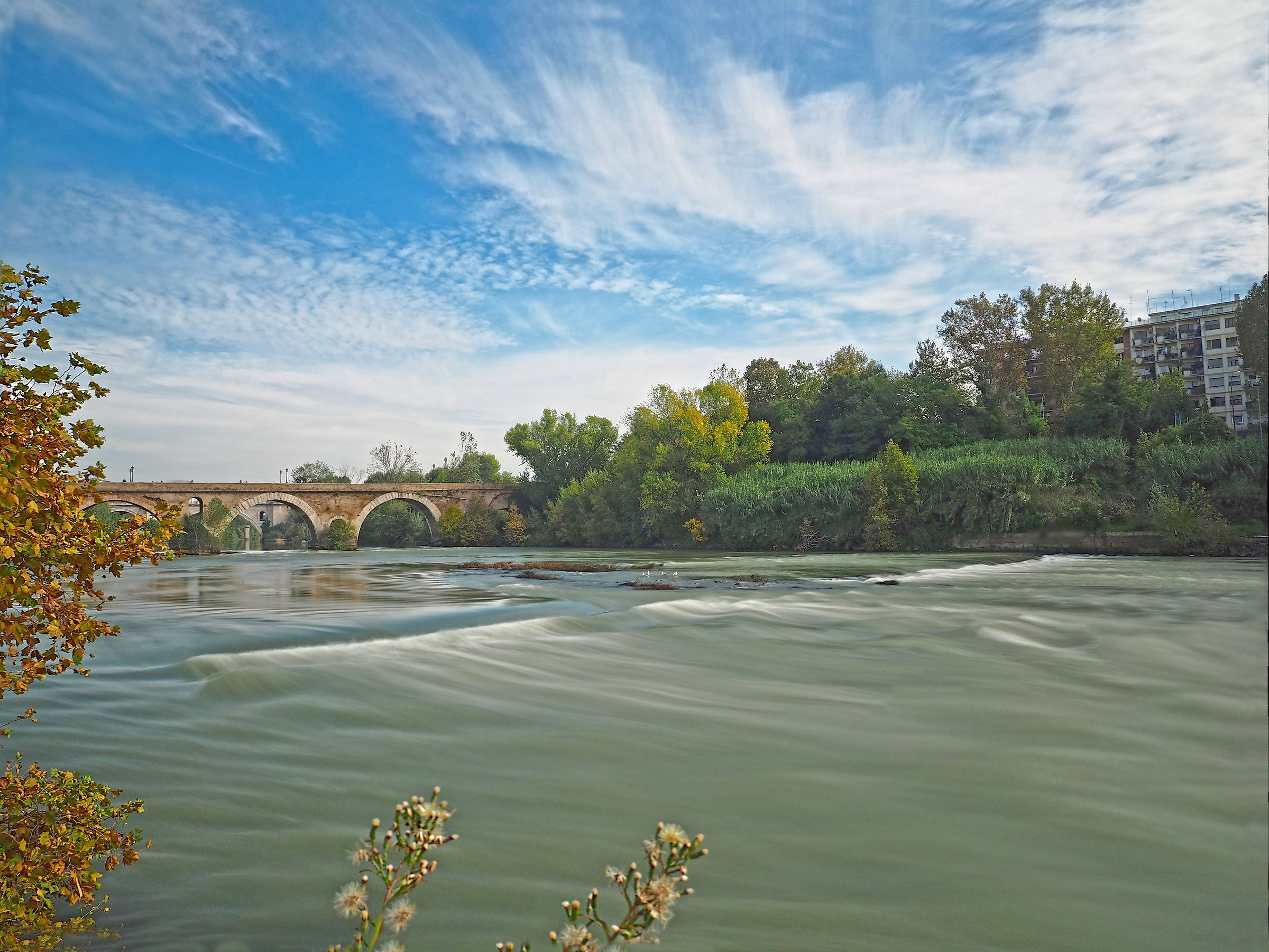 Milvian Bridge on the Tiber (Rome)...
