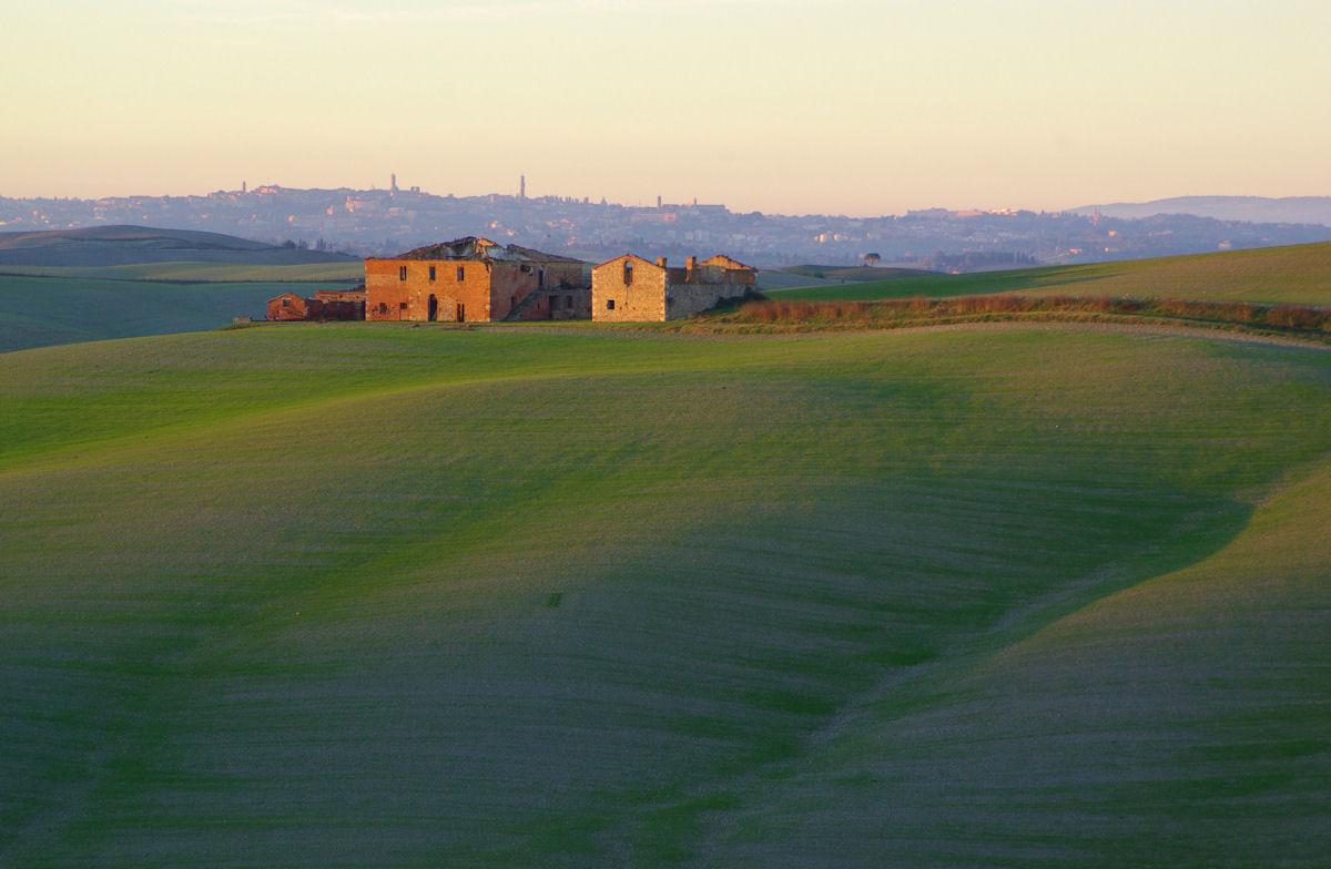 Siena at sunset...