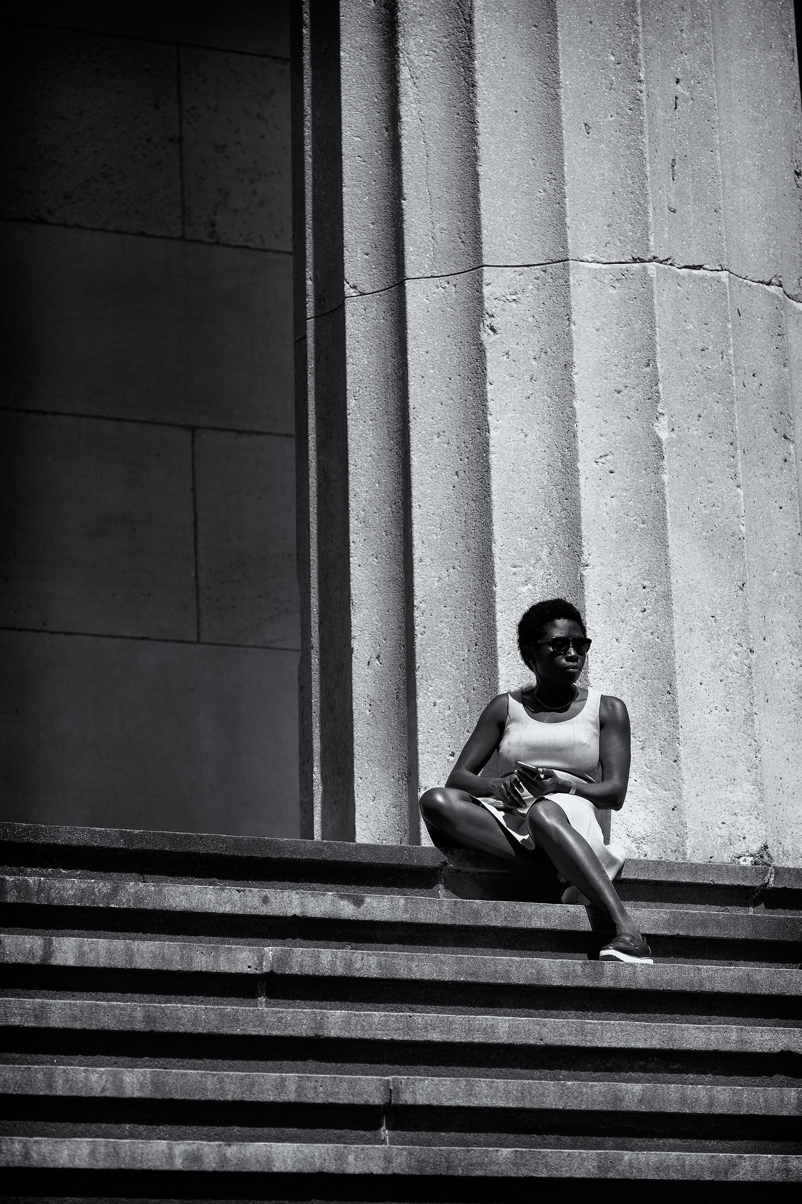Sunbathing in Wall Street...