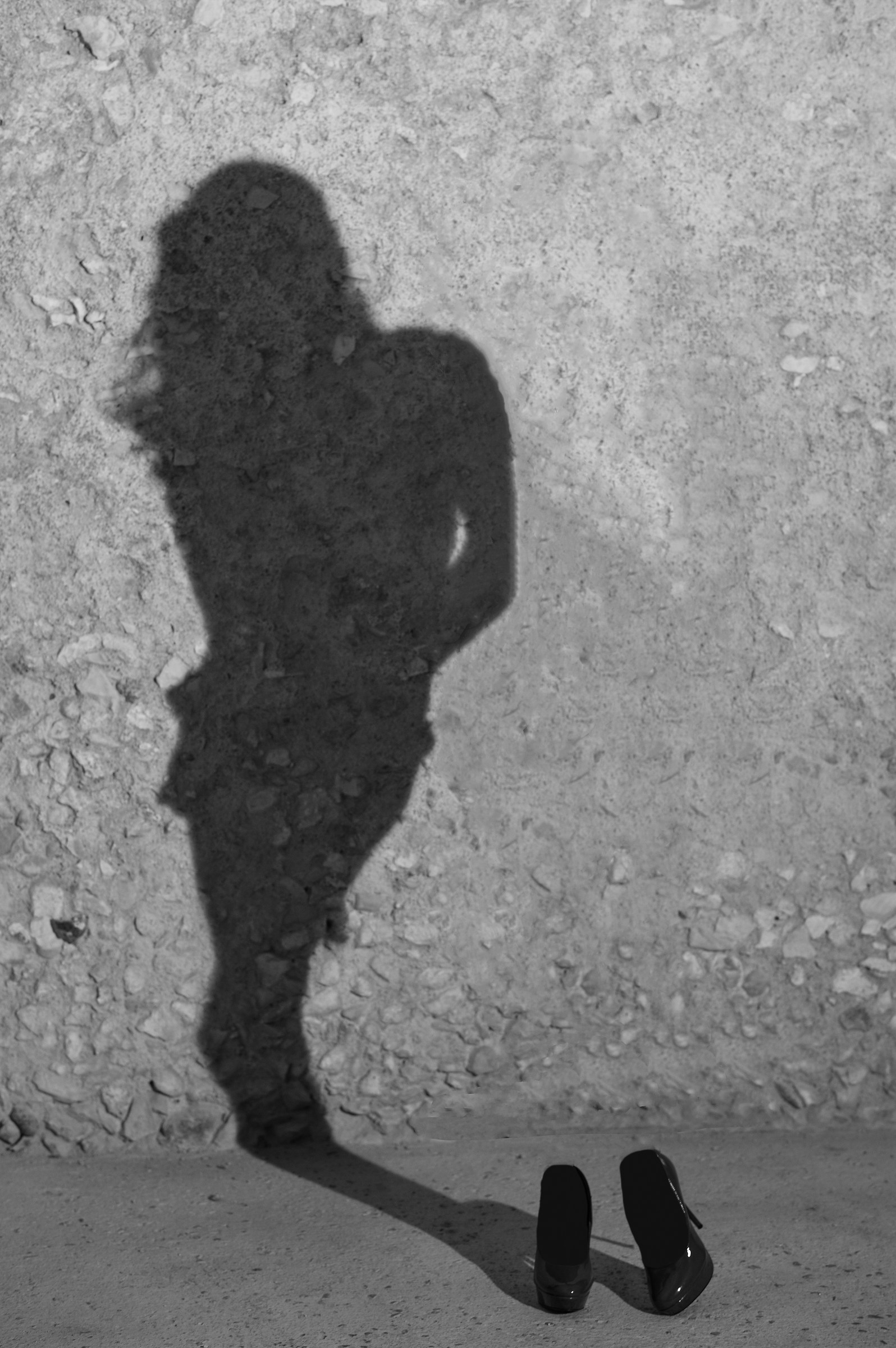 the shadow of the model ......