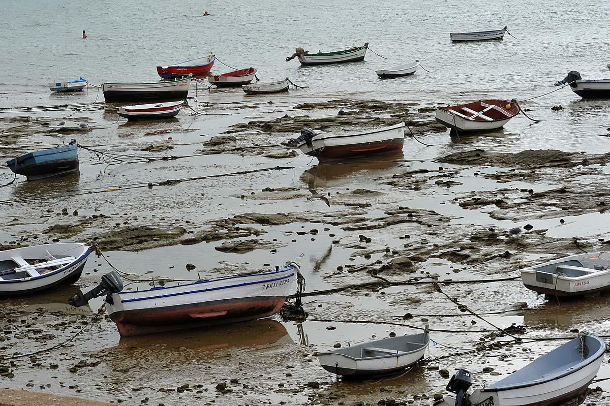 Bassa marea a Cadice...