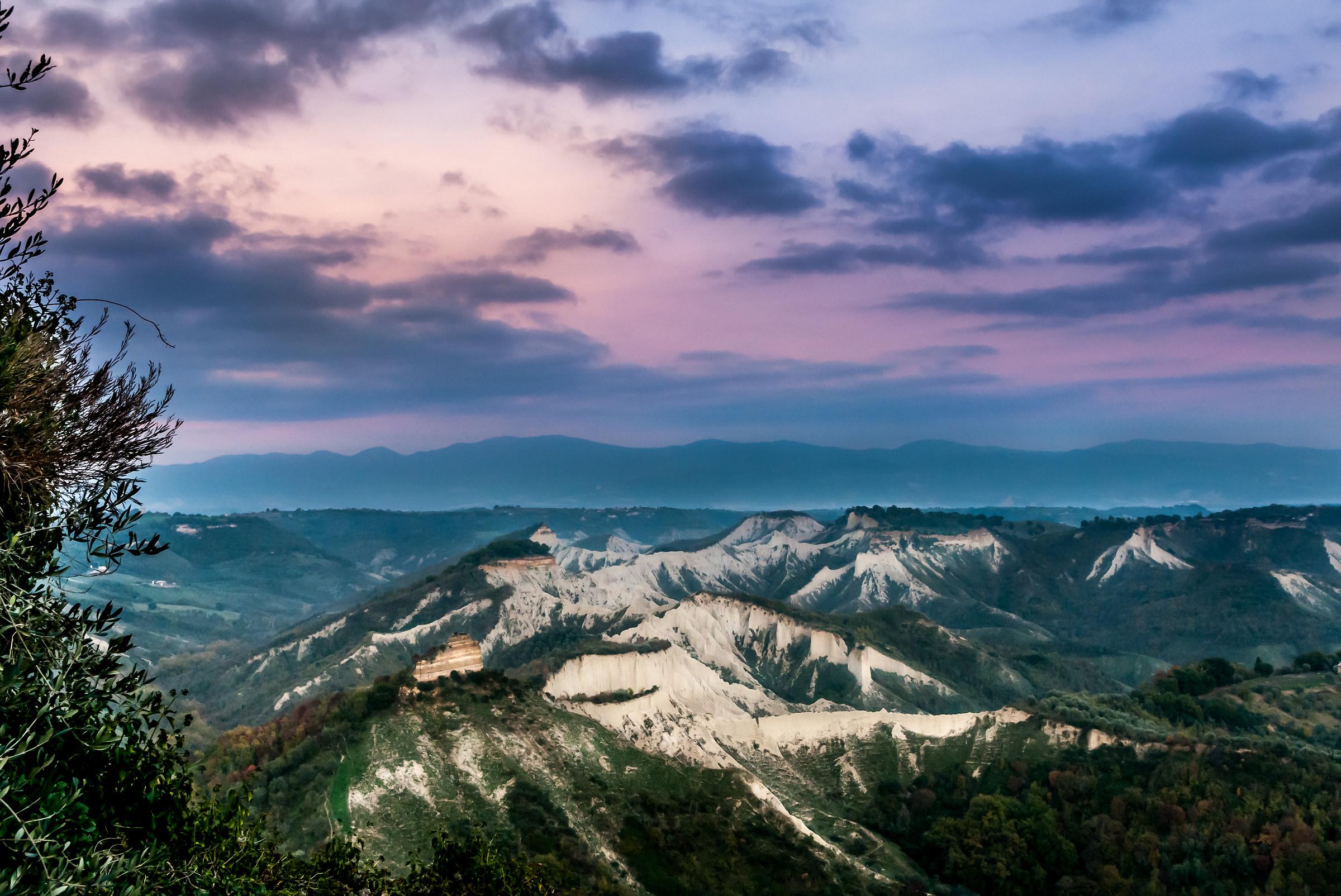 View from Civita di Bagnoregio...