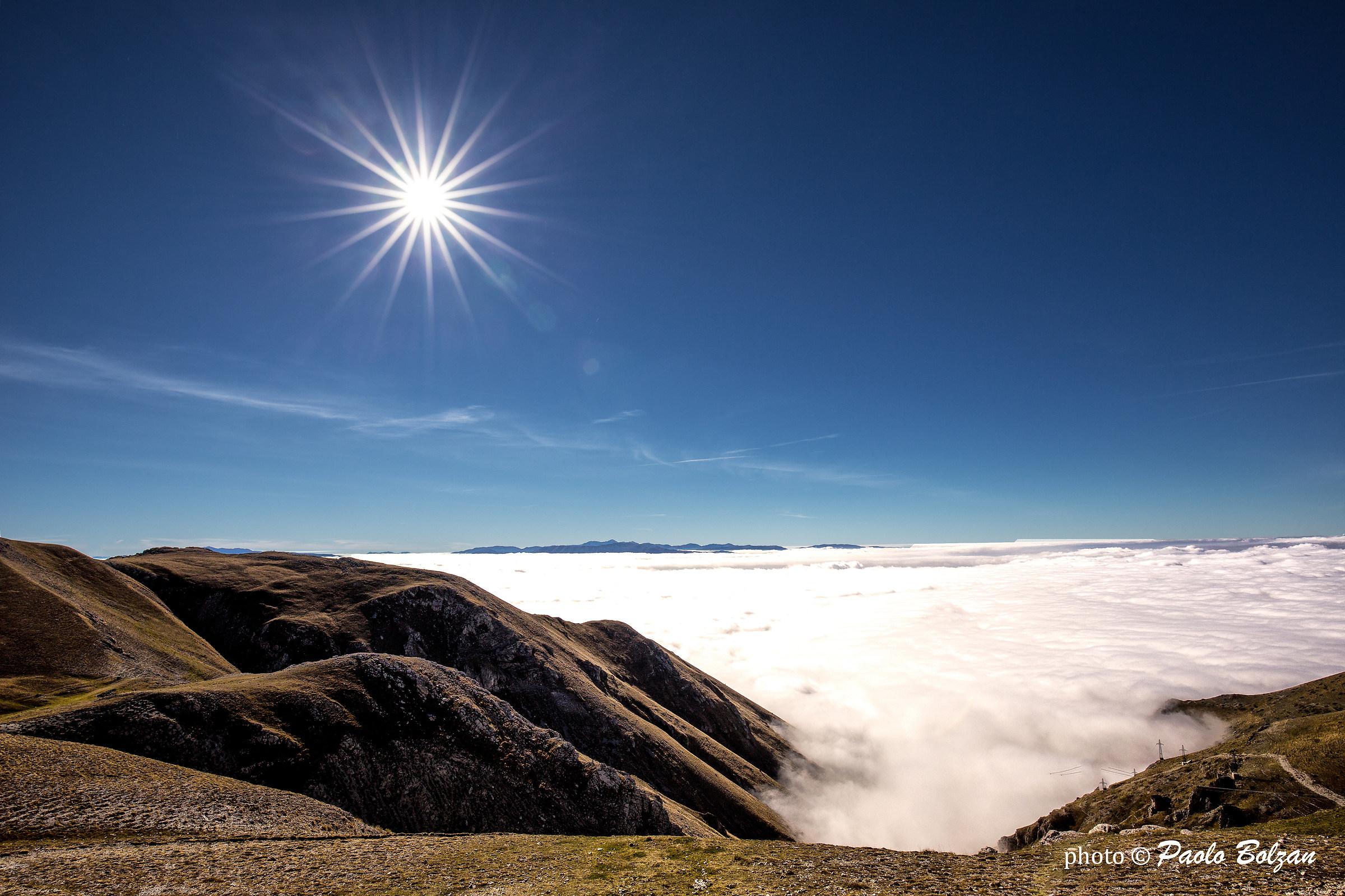 A sea of ??clouds...