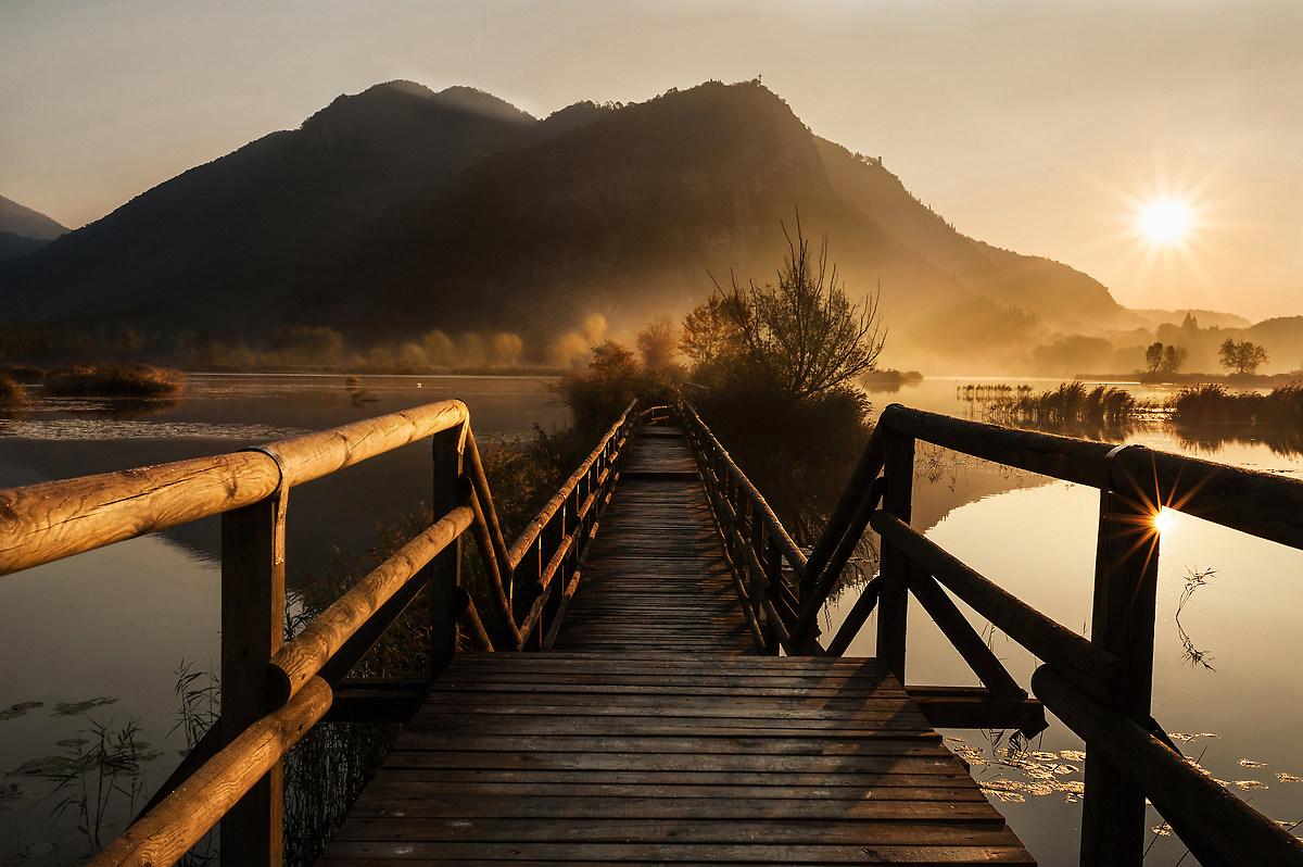 Sunrise at peatlands...